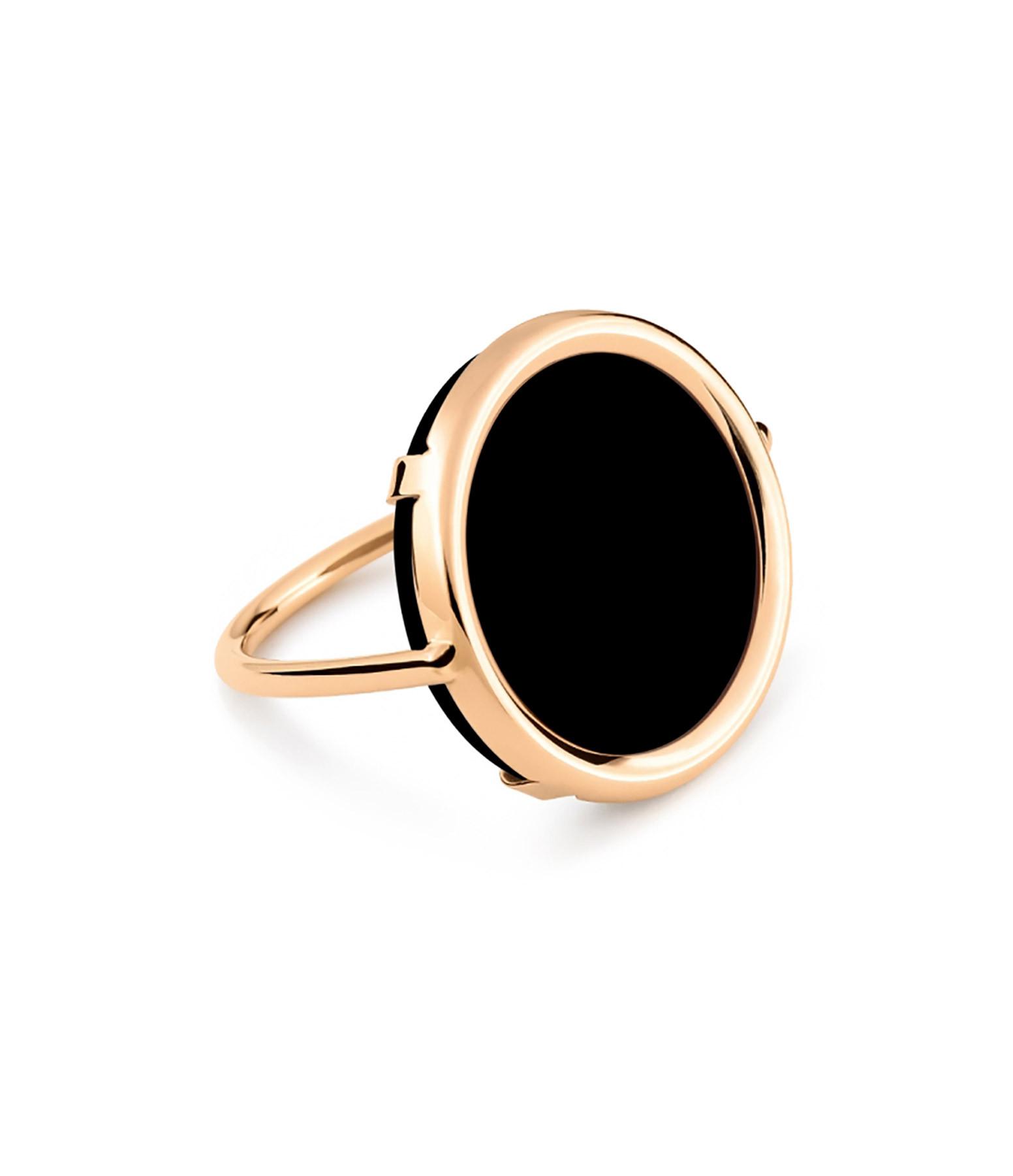 Bague Black Moon Disc Onyx