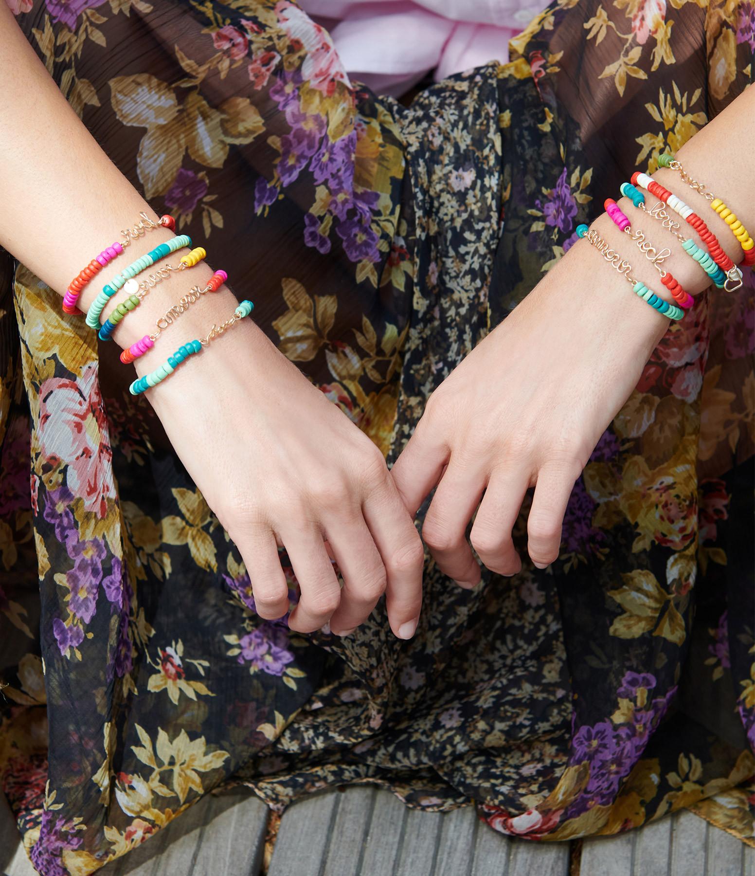 ATELIER PAULIN - Bracelet Medina Amour Viridien Turquoise Gold Filled, Collection Marrakech