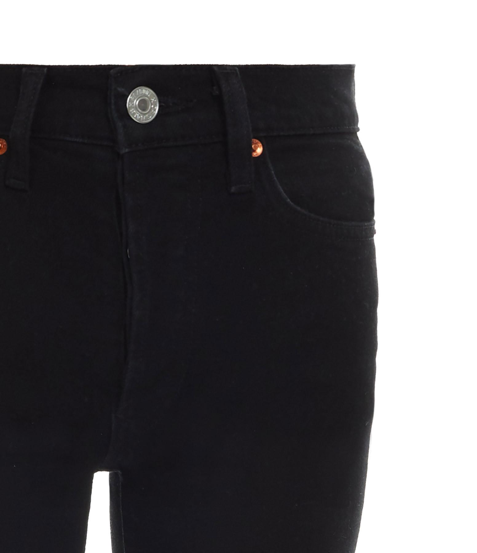 RE/DONE - Jean Crop Taille Haute Noir
