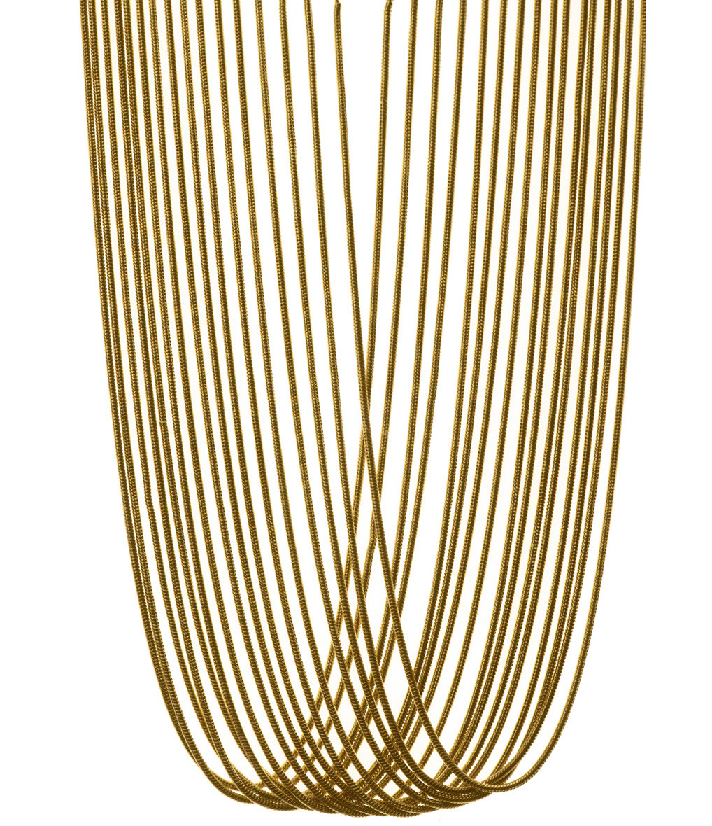 MAGGOOSH - Collier Gold Rush Large Plaqué Or