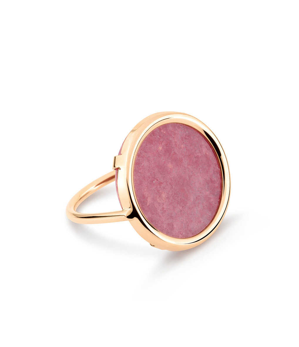 GINETTE_NY - Bague Disc Rhodonite