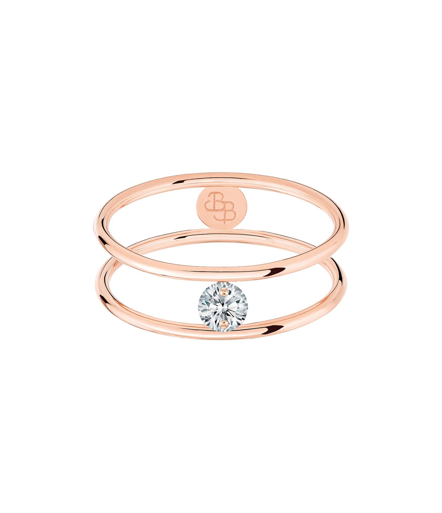LA BRUNE & LA BLONDE - Bague Hula Hoop Diamant 0,10 Or Rose