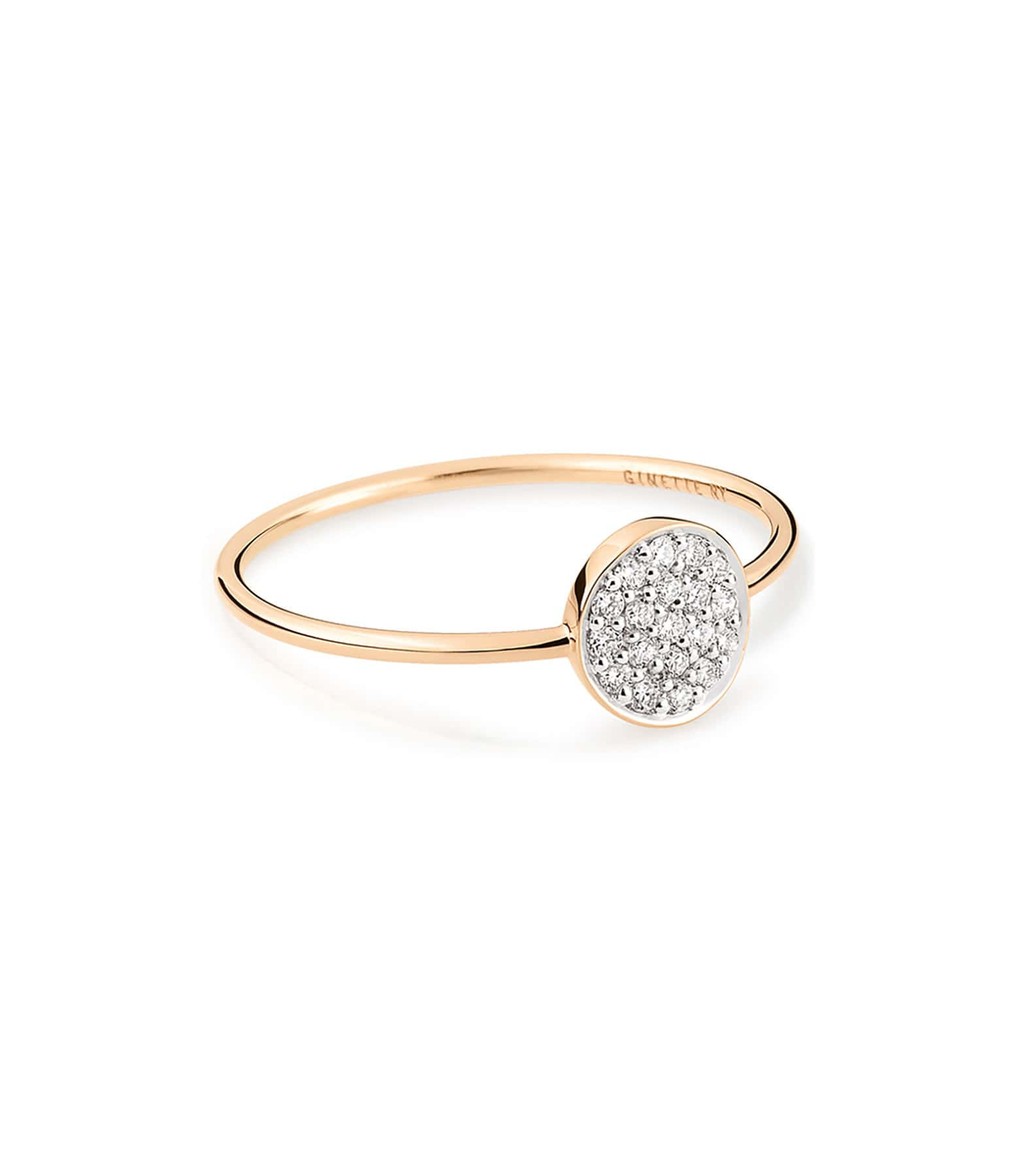 GINETTE_NY - Bague Mini Ever Mini Disc Diamants