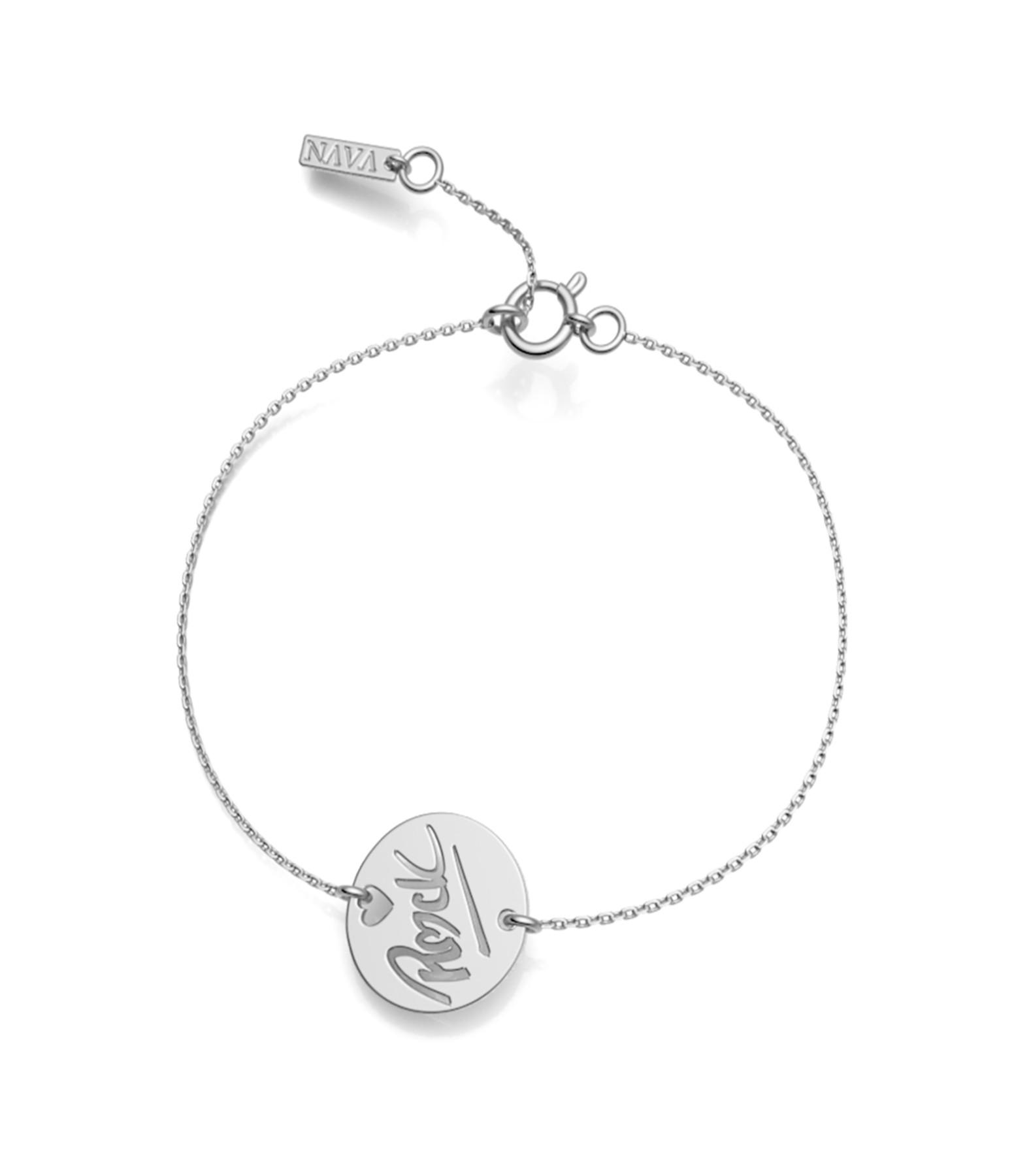 NAVA JOAILLERIE - Bracelet Rock S Or Blanc