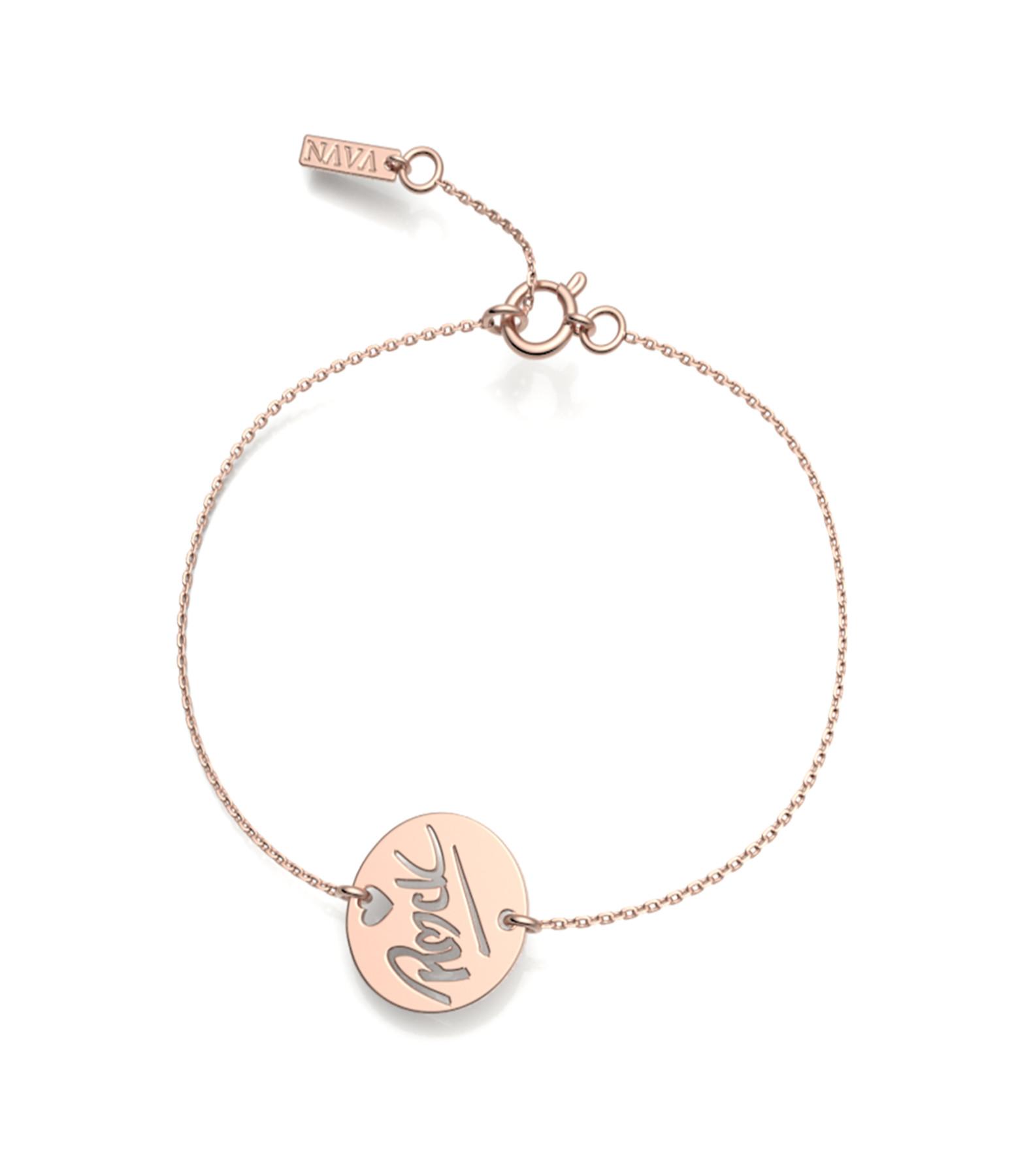 NAVA JOAILLERIE - Bracelet Rock S Or Rose