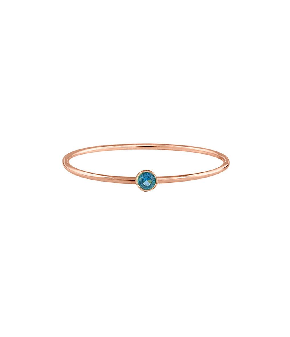 YANNIS SERGAKIS - Bague Caramel Or Diamant Bleu