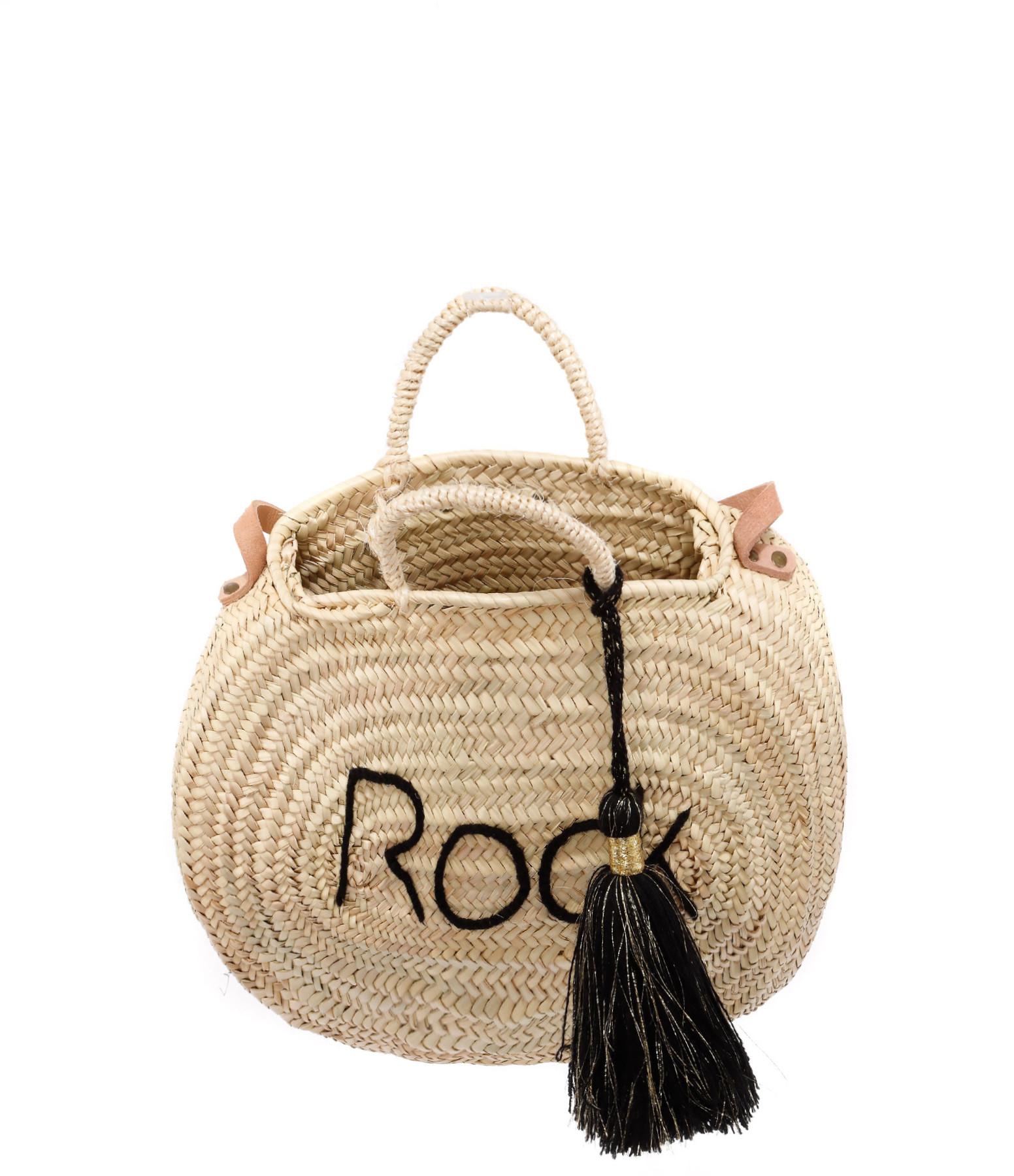 ANATA - Panier Rond Rock Doré