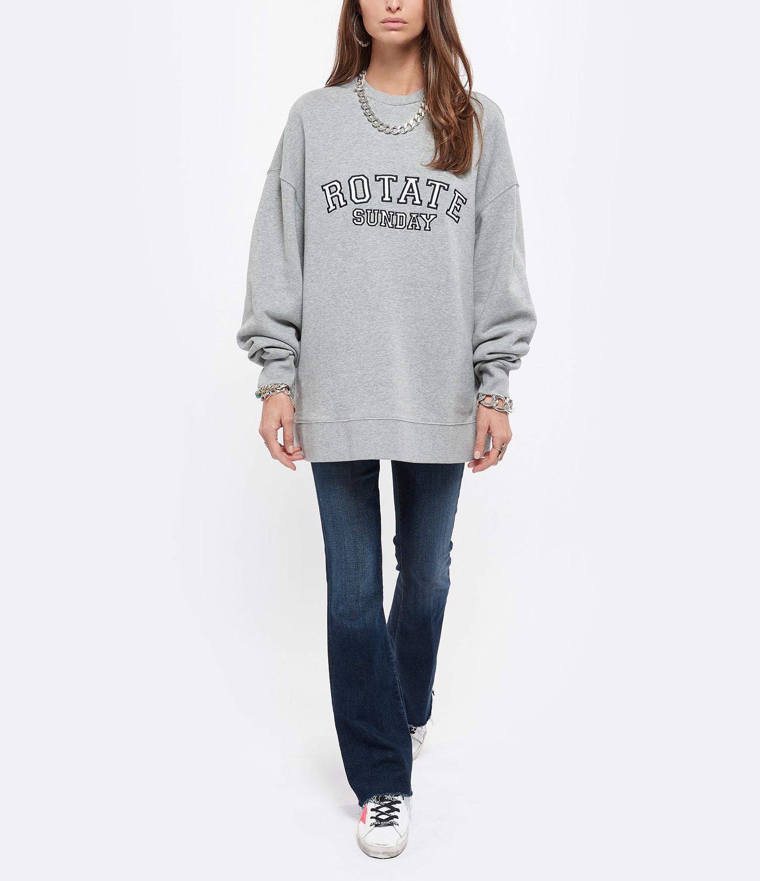 ROTATE - Sweatshirt Iris Coton Biologique Gris, Capsule Sun