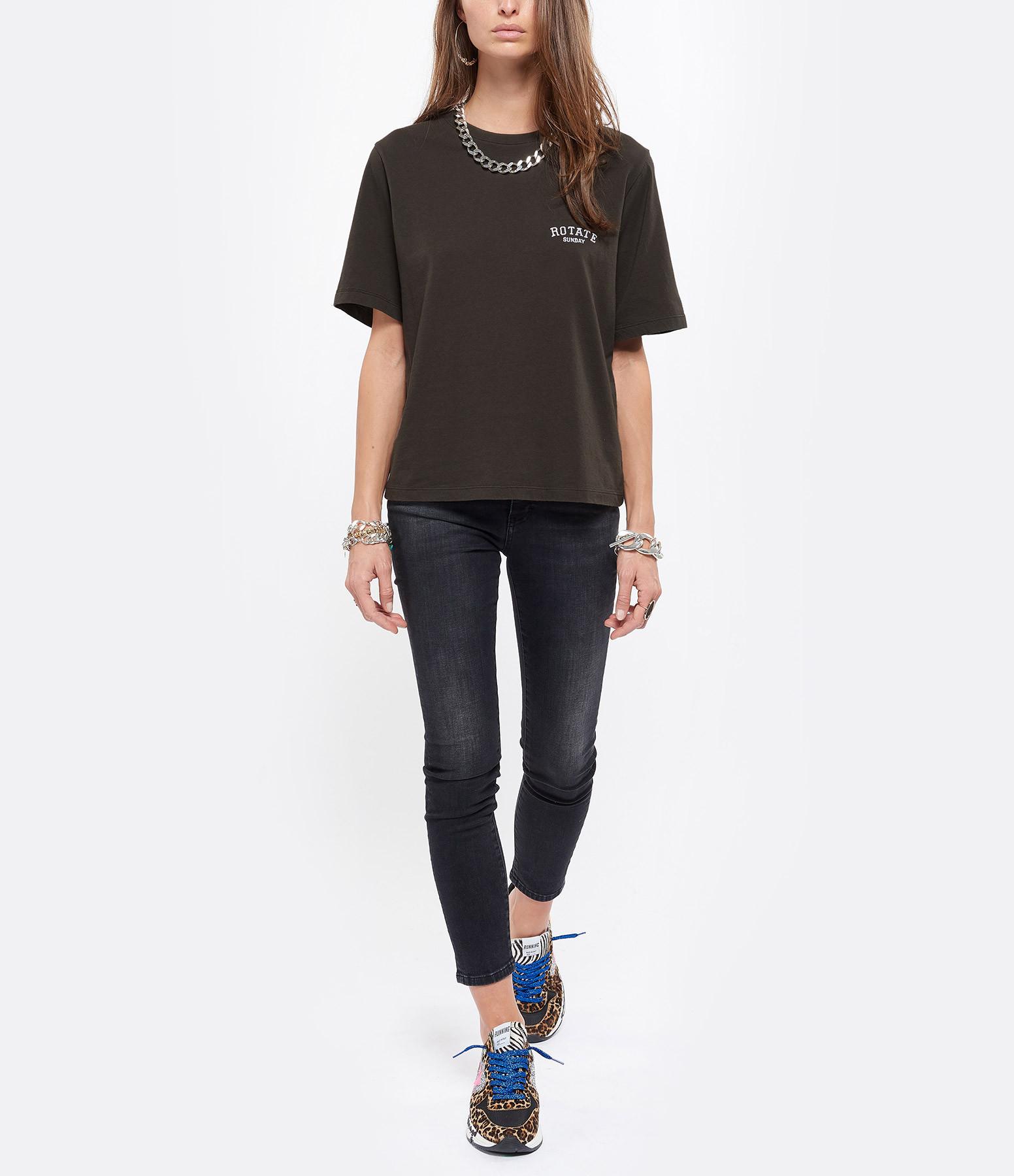 ROTATE - Tee-shirt Aster Coton Biologique Noir, Capsule Sun