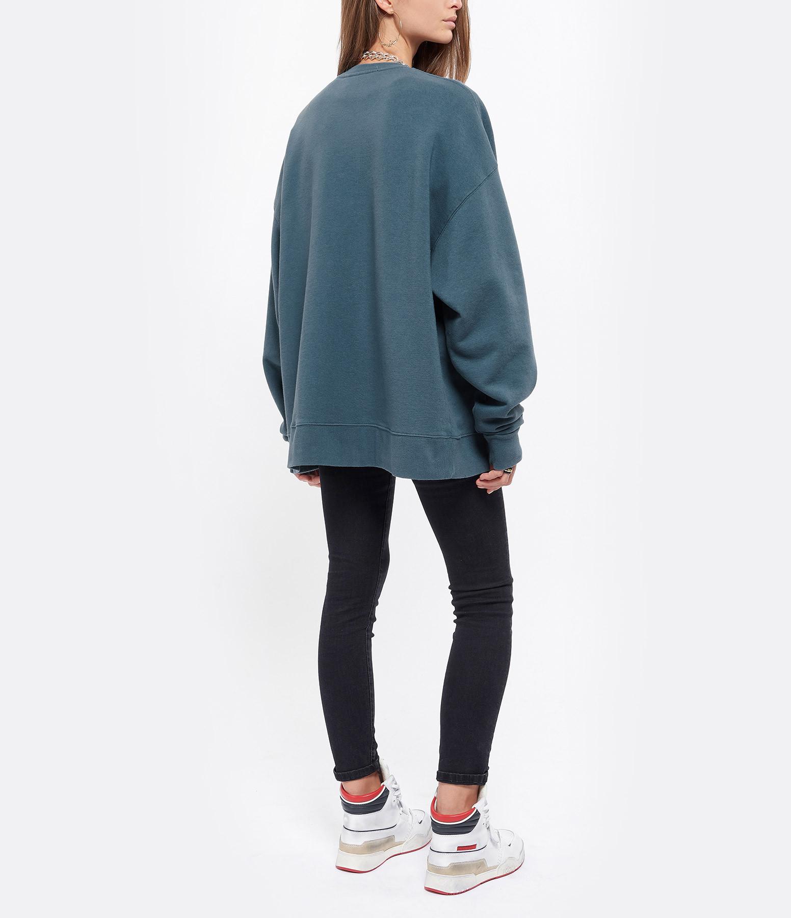 ROTATE - Sweatshirt Iris Coton Biologique Bleu, Capsule Sun