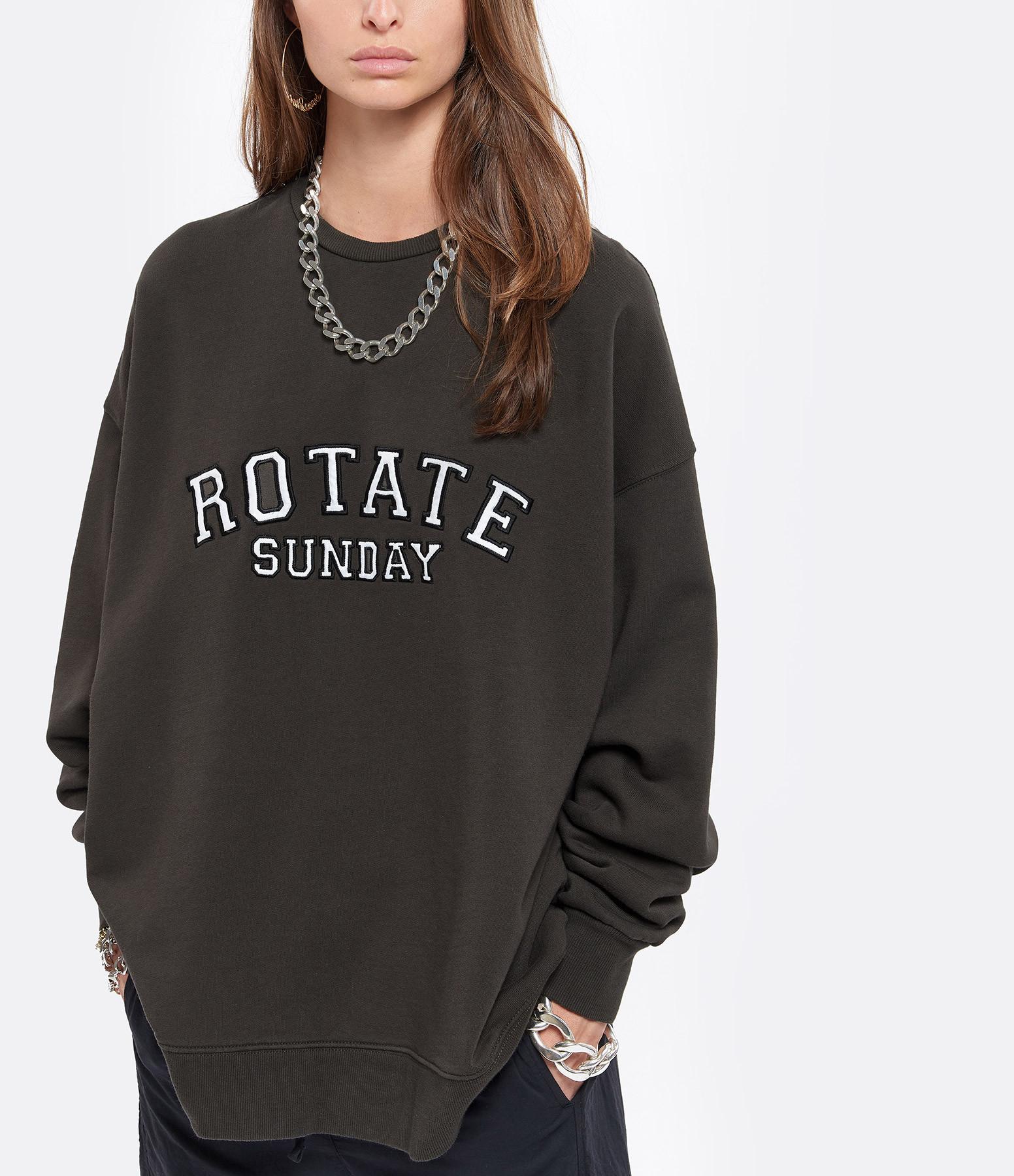 ROTATE - Sweatshirt Iris Coton Biologique Noir, Capsule Sun