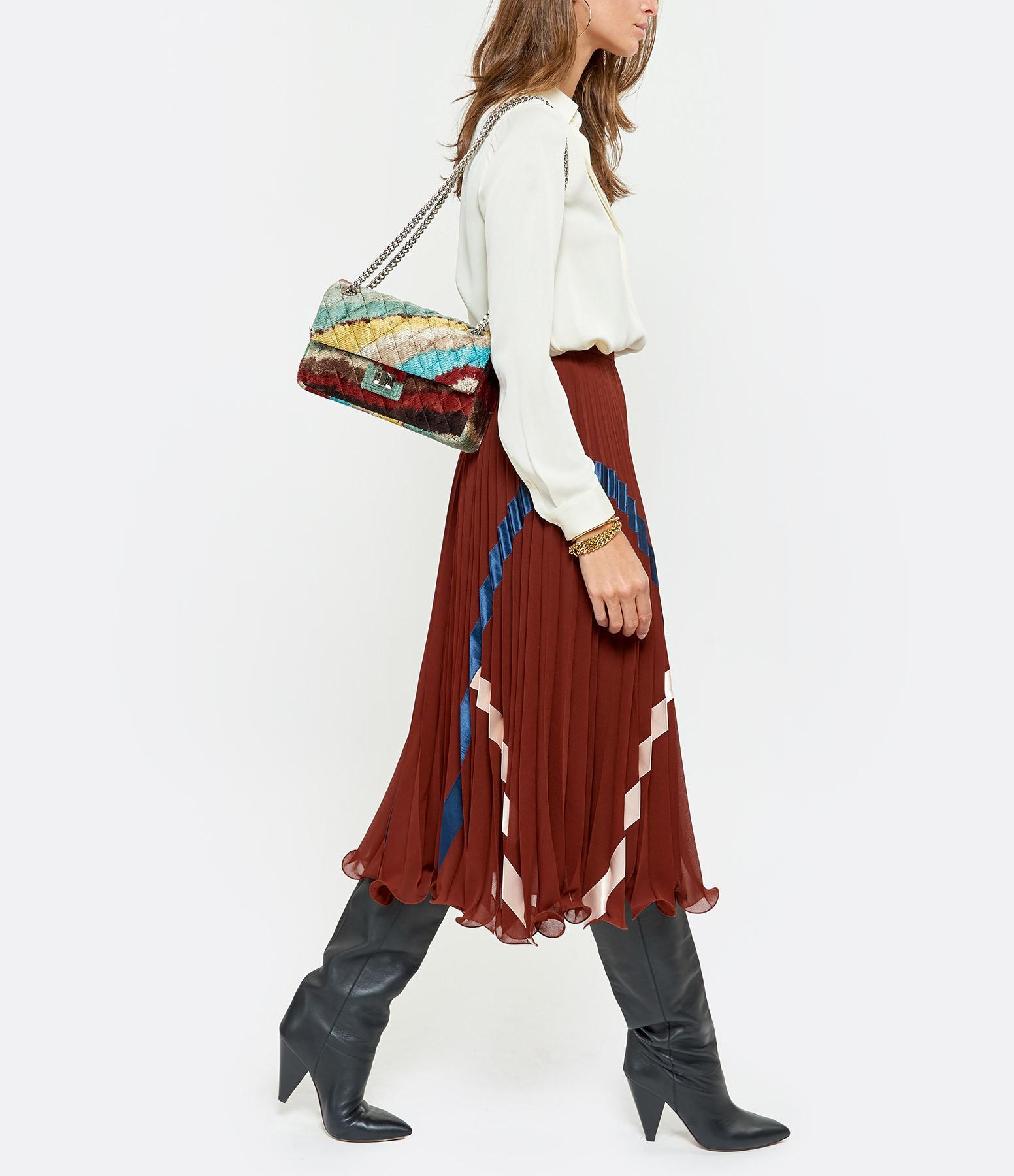 ROUGH STUDIOS - Sac Bandita Velours Soie Rouge Multicolore
