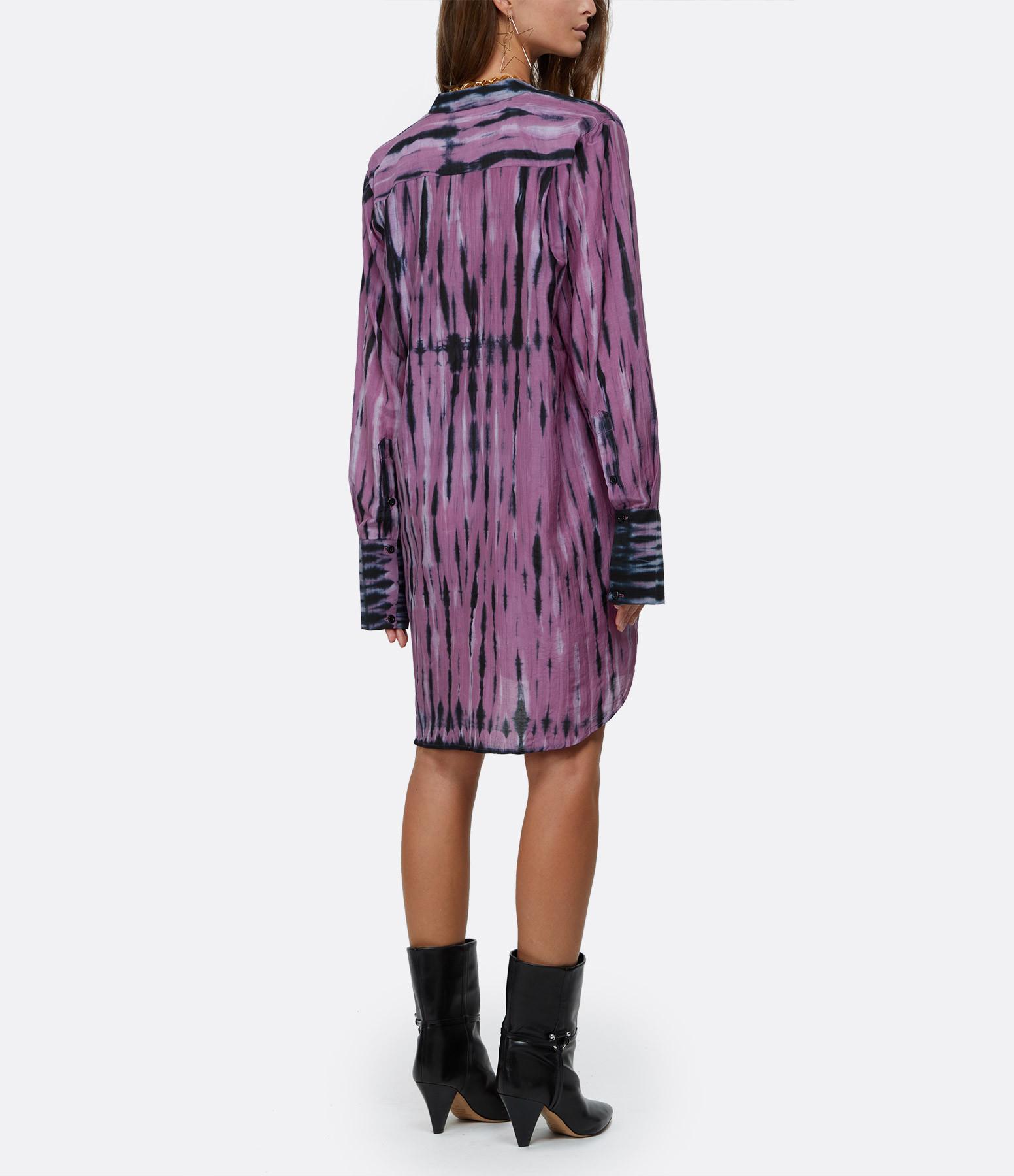 ROUGH STUDIOS - Robe Baker Coton Noir Violet