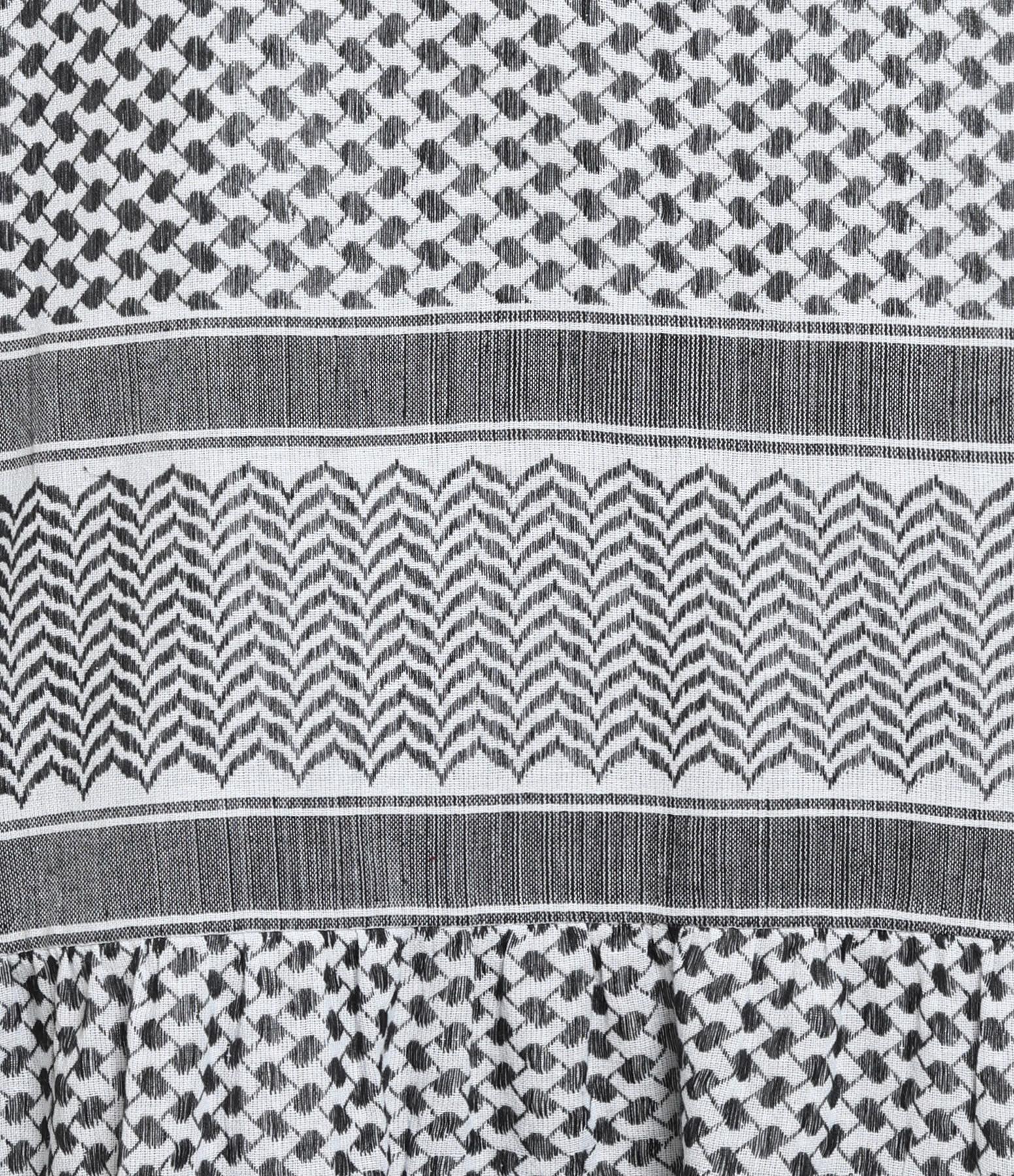 ROUGH STUDIOS - Robe Enta Coton Brodé Noir Blanc