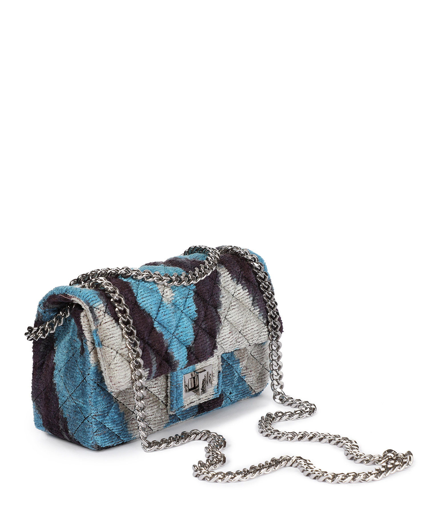 ROUGH STUDIOS - Sac Bandita Mini Velours Soie Noir Bleu