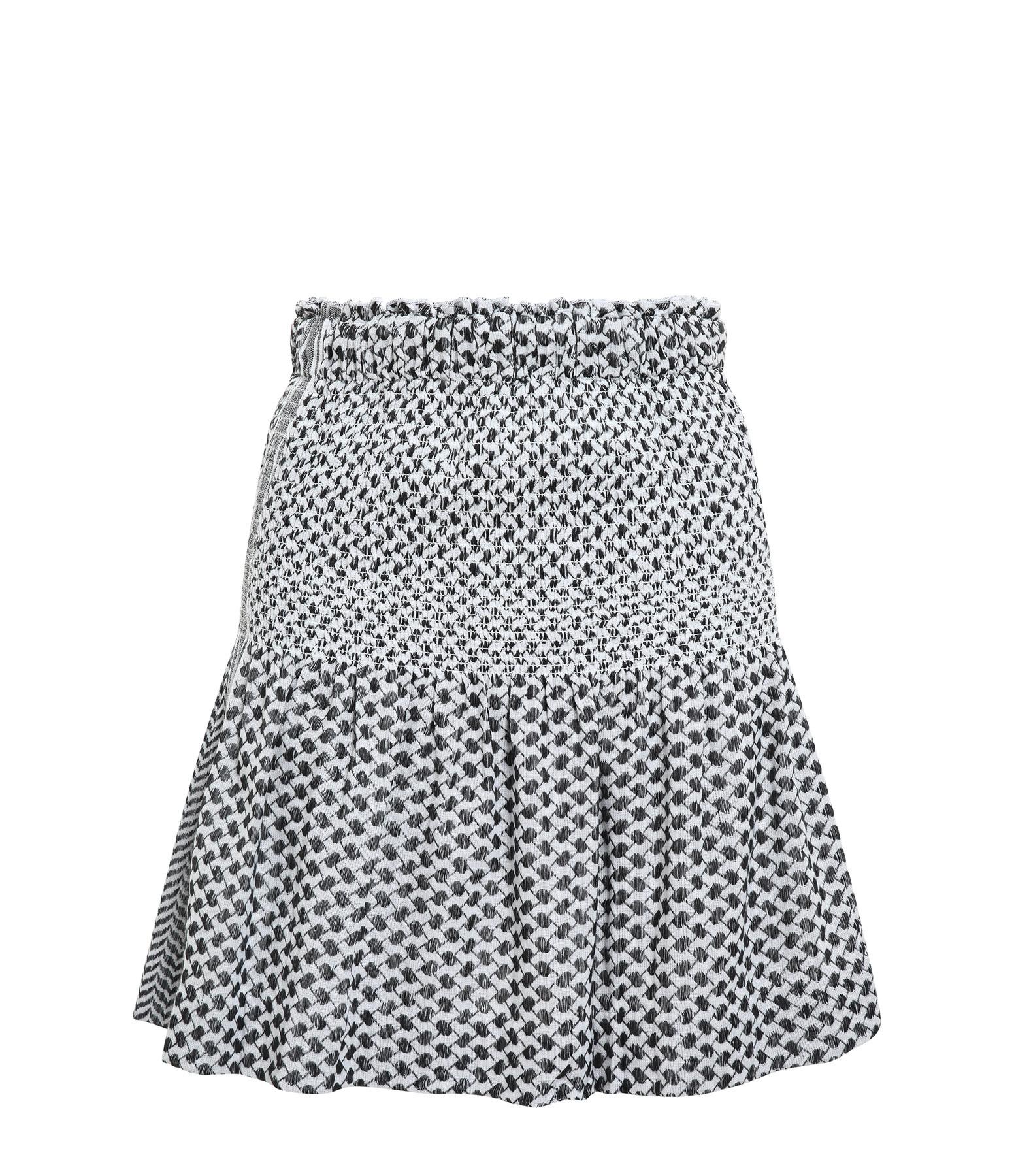 ROUGH STUDIOS - Jupe Freida Coton Noir Blanc