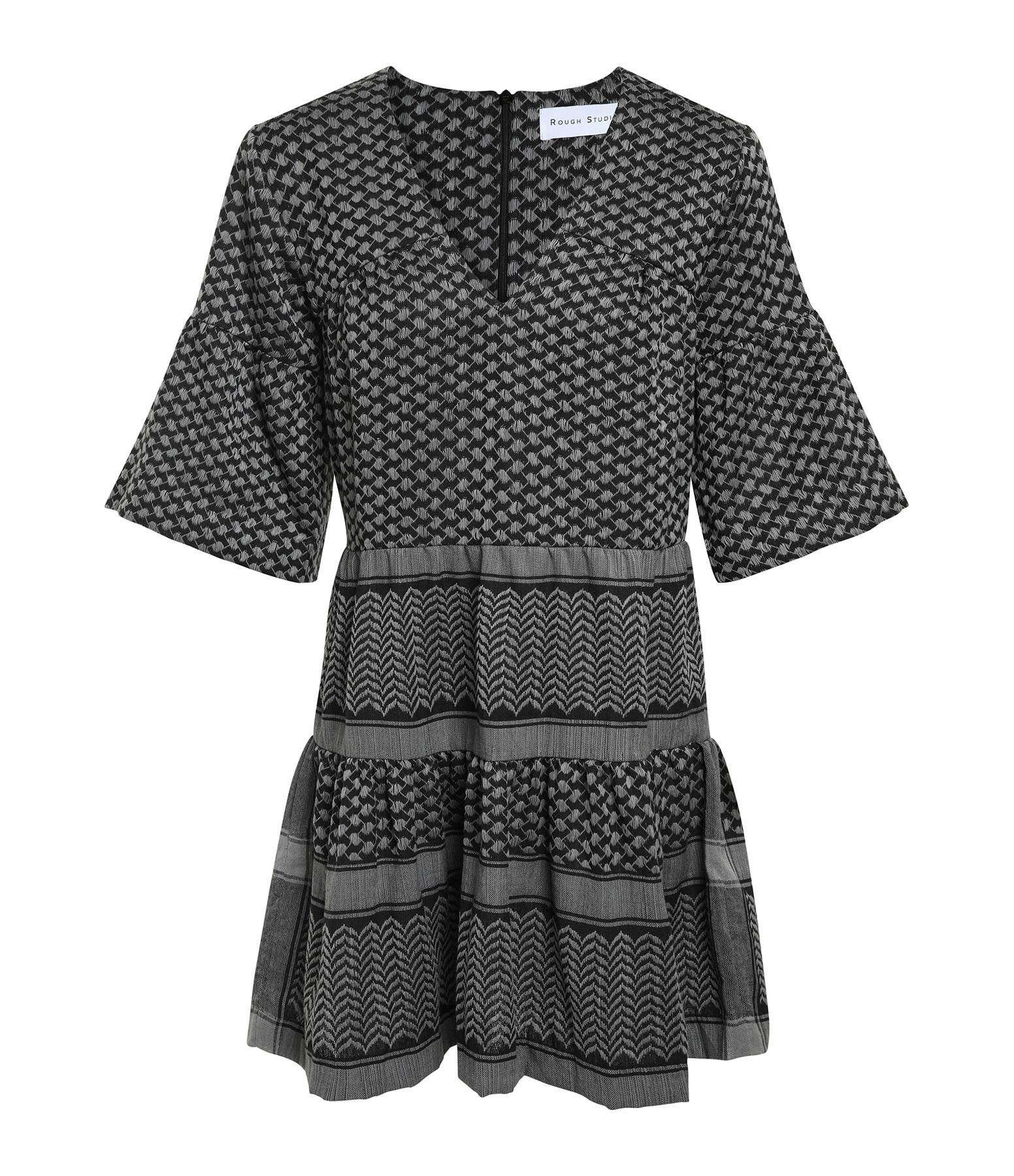 ROUGH STUDIOS - Robe Siena Coton Gris Noir