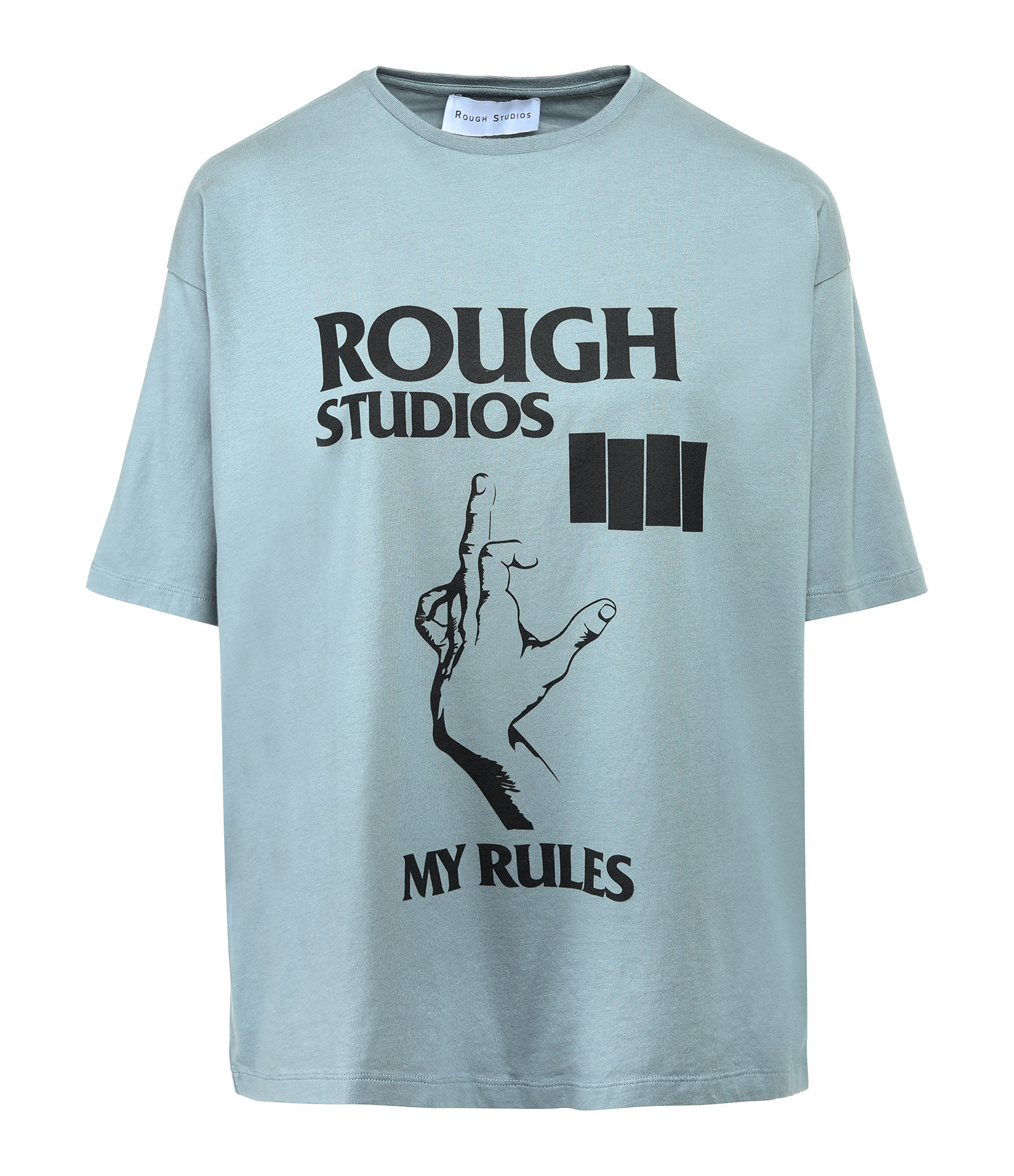ROUGH STUDIOS - Tee-shirt Nash Coton Bleu