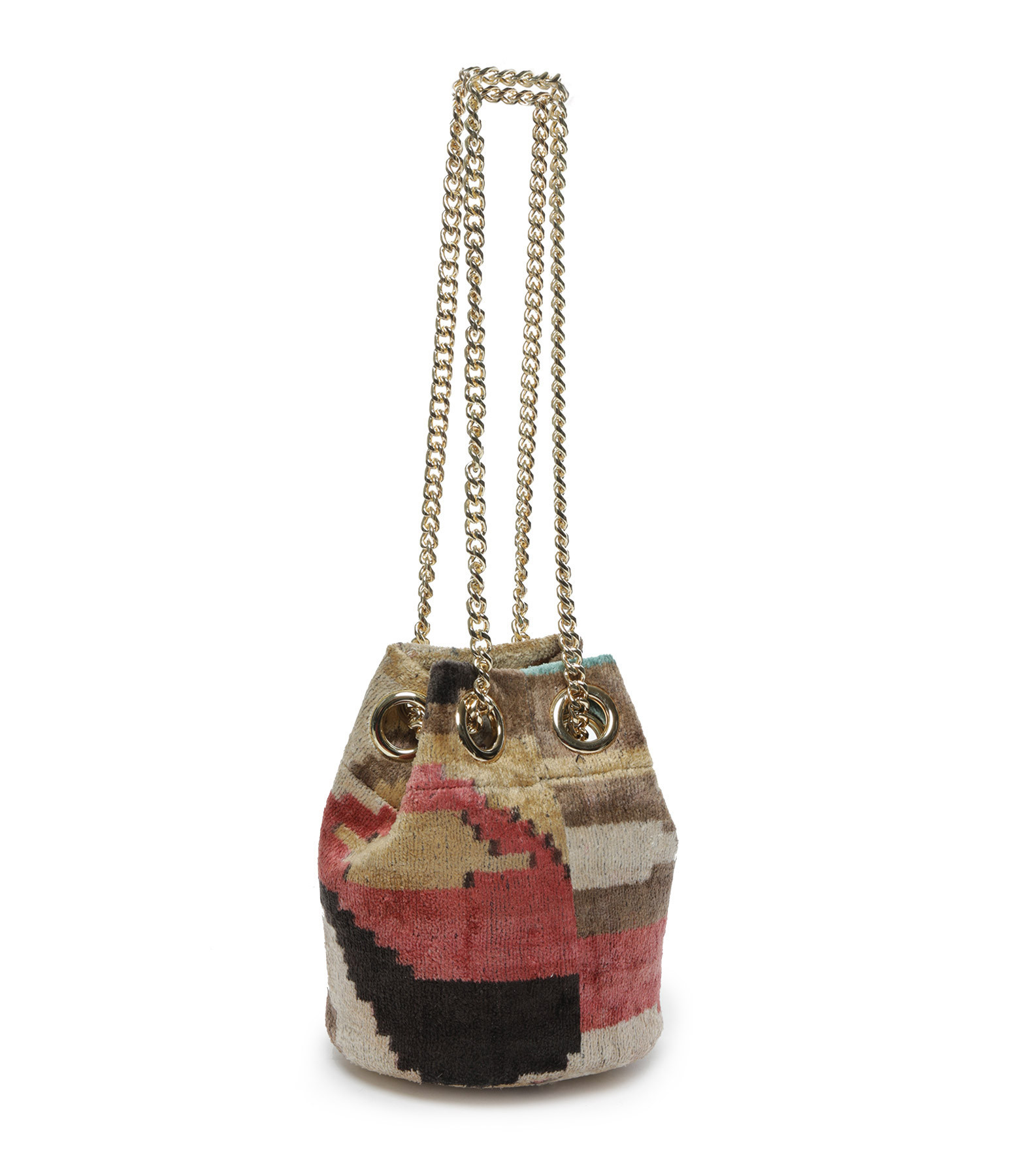 ROUGH STUDIOS - Sac Seau Gilby Soie Rose Multicolore
