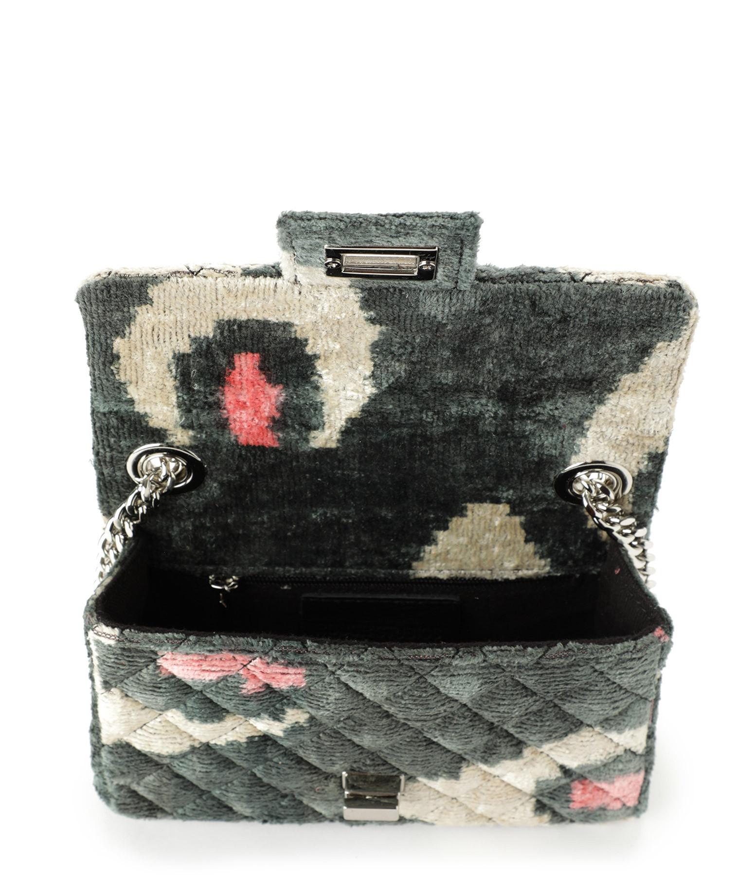 ROUGH STUDIOS - Sac Mini Bandita Velours Soie Noir Rose