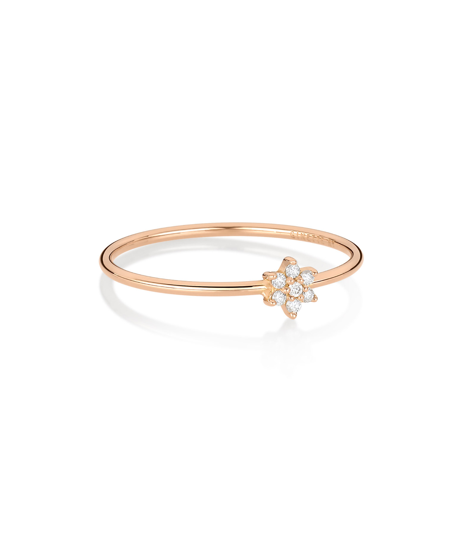GINETTE NY - Bague Mini Star Diamants Or Rose