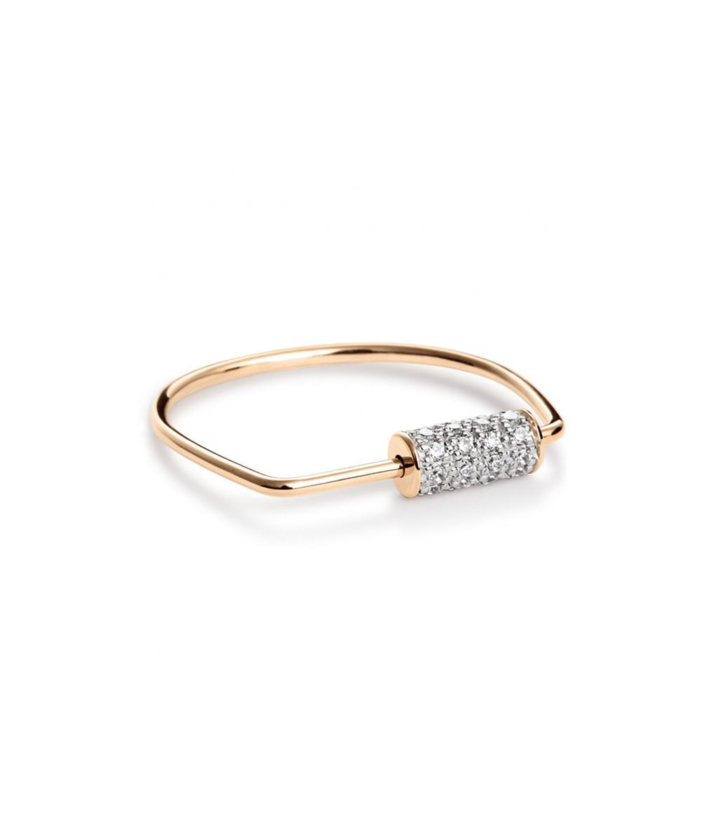 Bague Mini Straw Diamond - GINETTE_NY