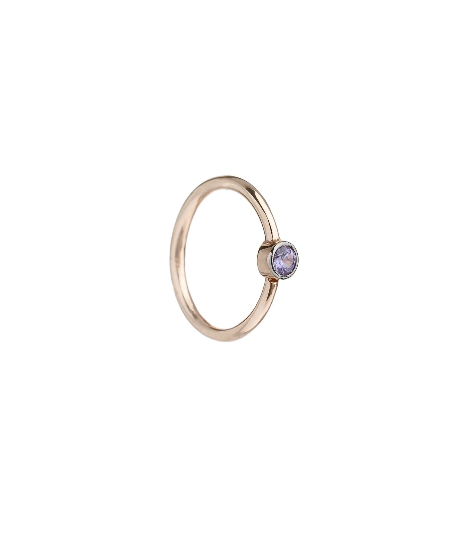 YANNIS SERGAKIS - Petite Créole Or Saphirs Violets (vendue à l'unité)
