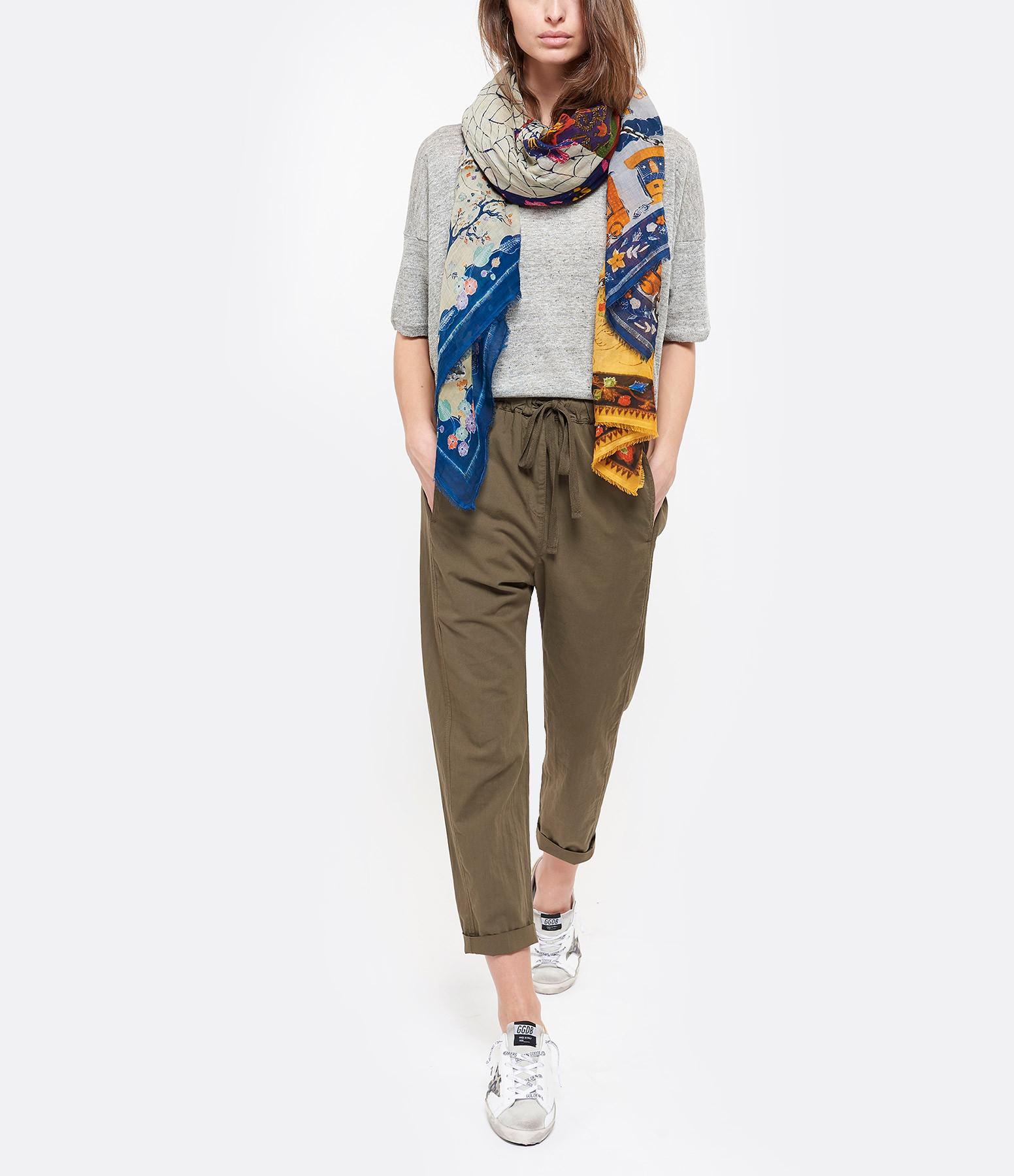 FALIERO SARTI - Foulard Lovers Coton Imprimé Multicolore