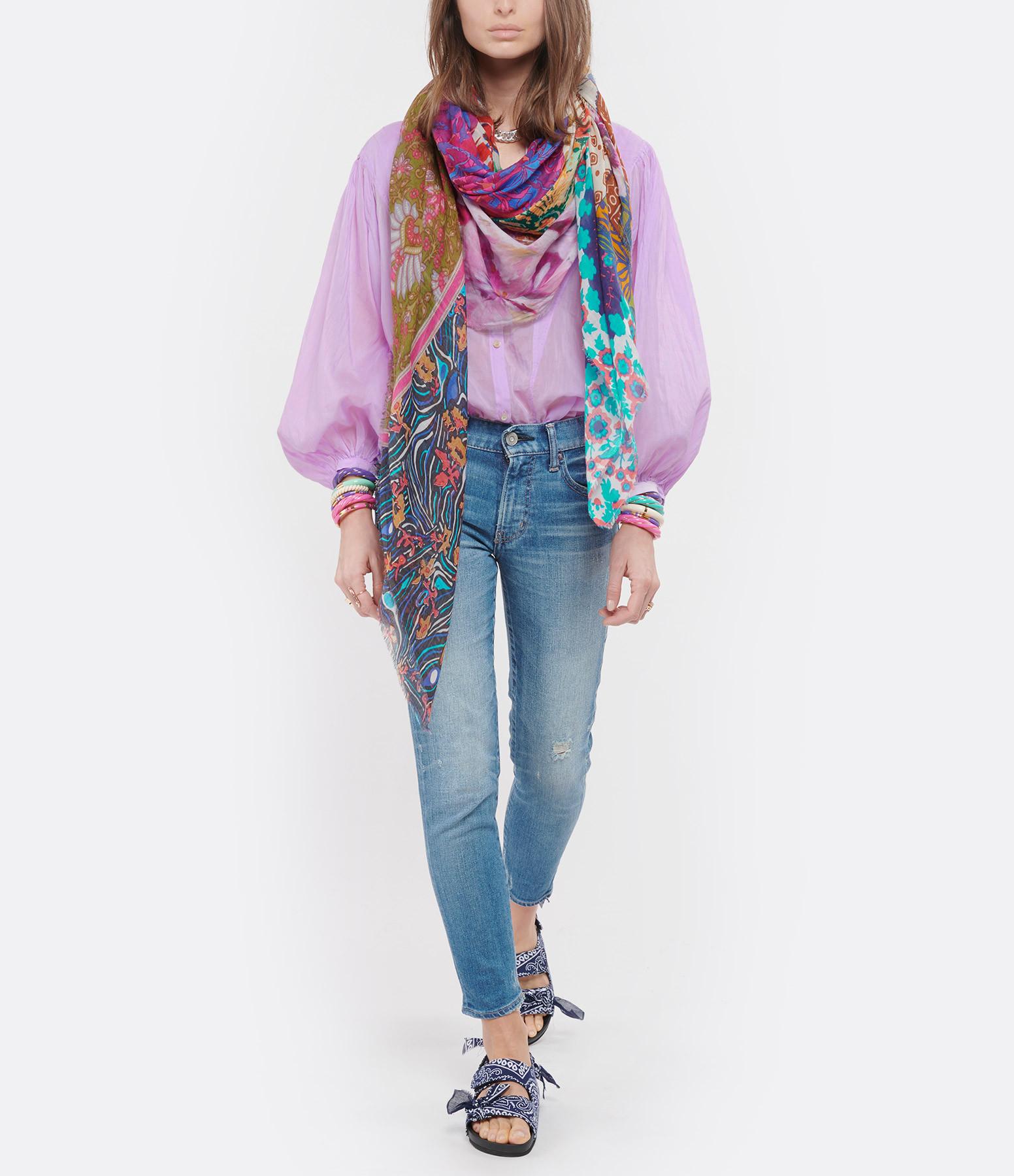 FALIERO SARTI - Foulard  Meraviglia Coton Imprimé Multicolore