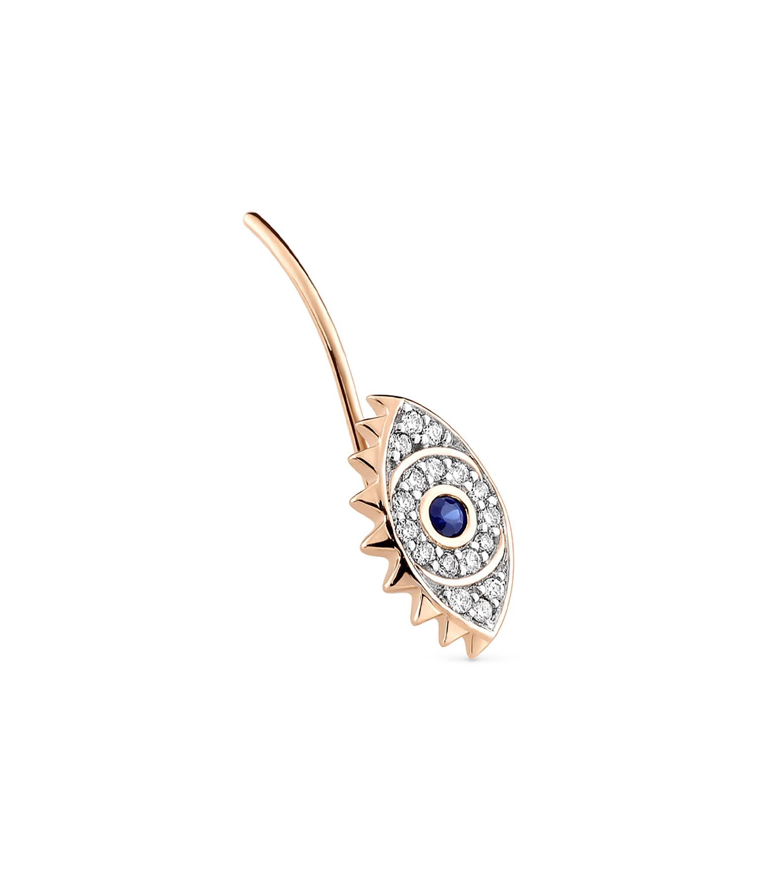 GINETTE NY - Boucle d'oreille Ajna Saphir Diamants OR (unité)