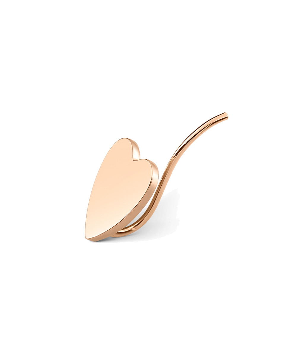 GINETTE_NY - Boucle d'oreille Angele Mini Coeur (unité)