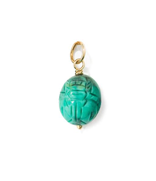 Pendentif Scarabée Turquoise PM - AURELIE BIDERMANN