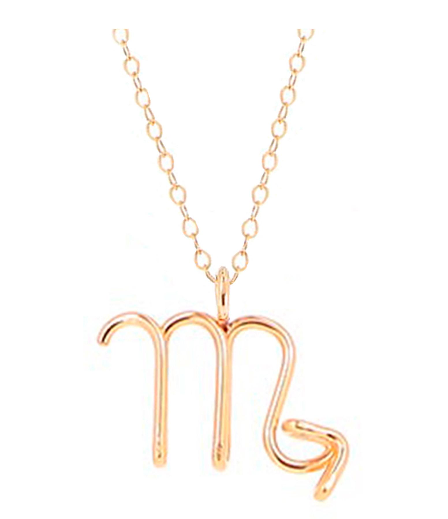 ATELIER PAULIN - Collier Astrologie Scorpion Gold Filled 14K