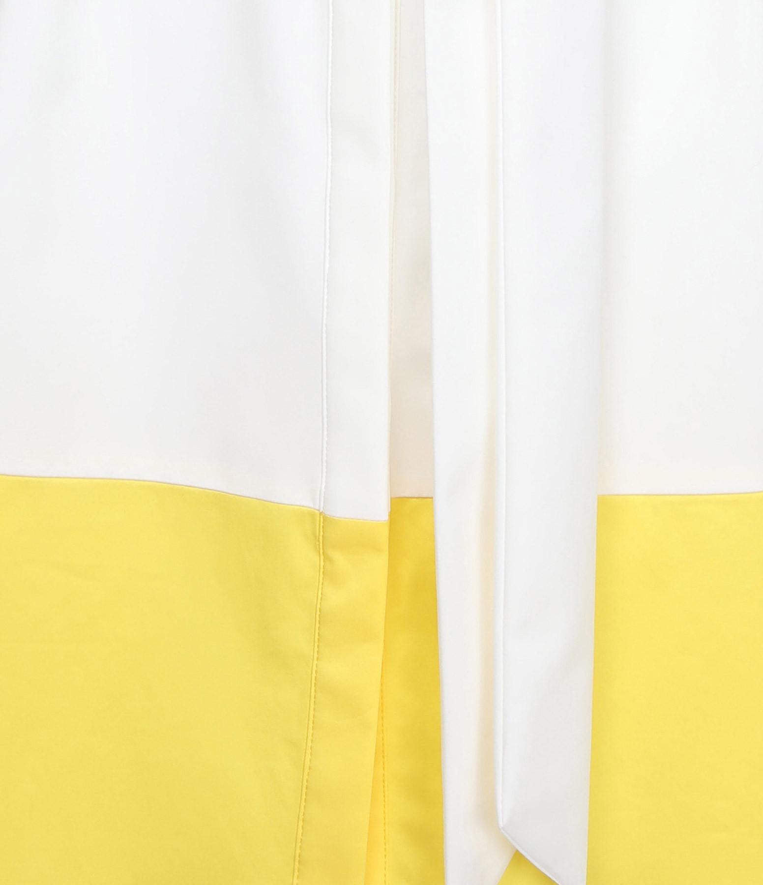 SEASONS - Robe Chemise Coton Ivoire Citron