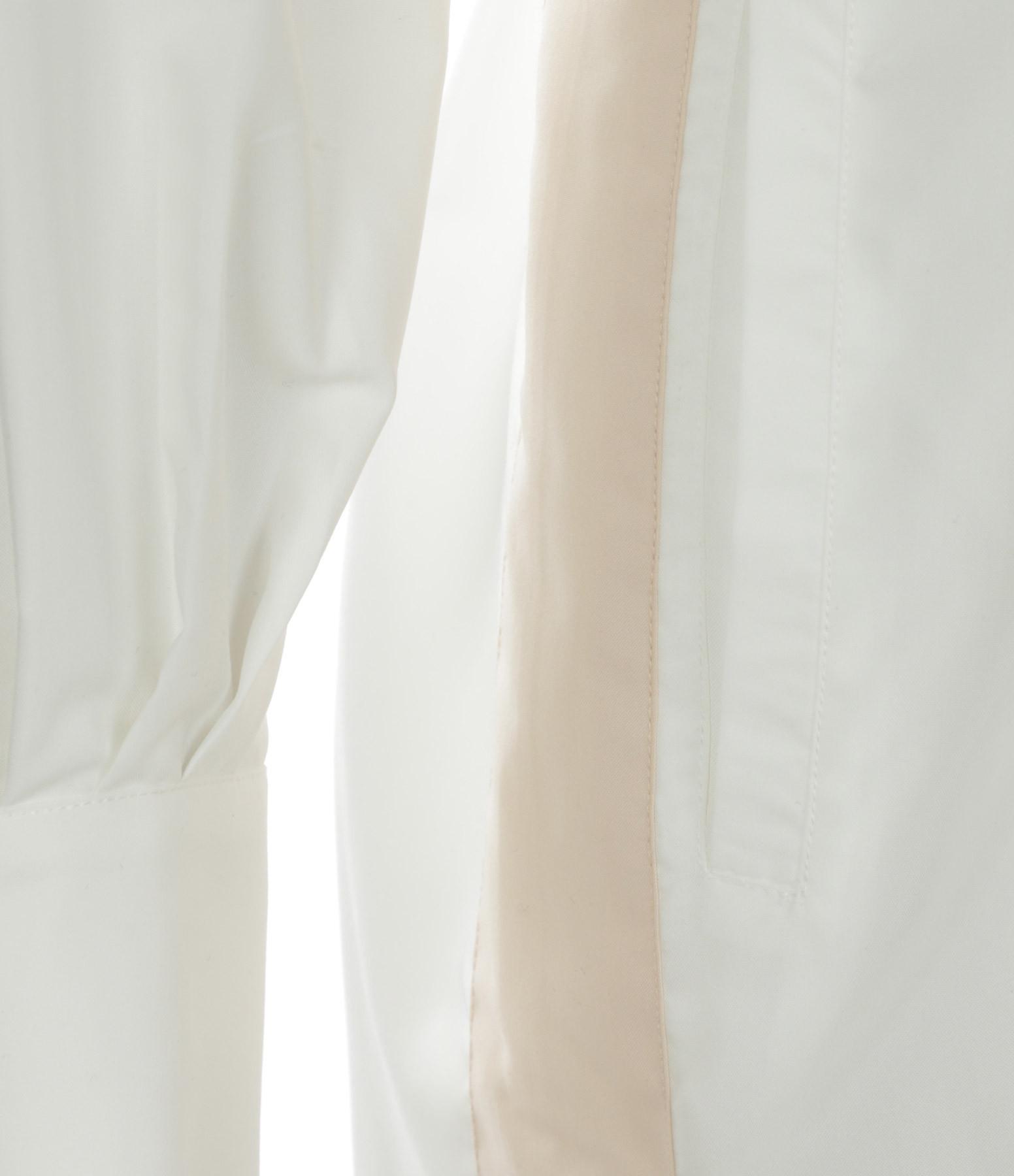 SEASONS - Robe Chemise Coton Ivoire Sable