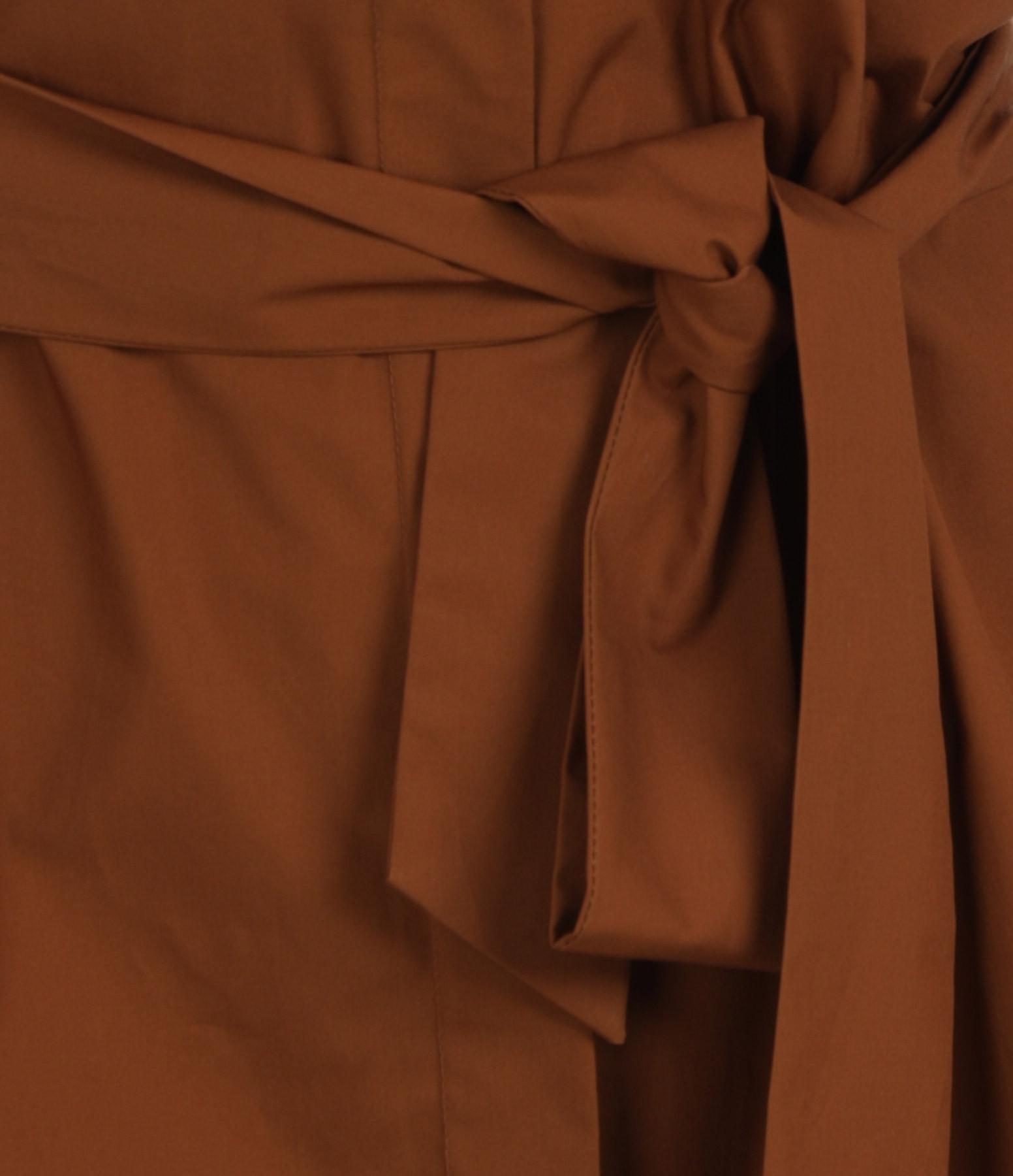 SEASONS - Robe Chemise Coton Mordoré