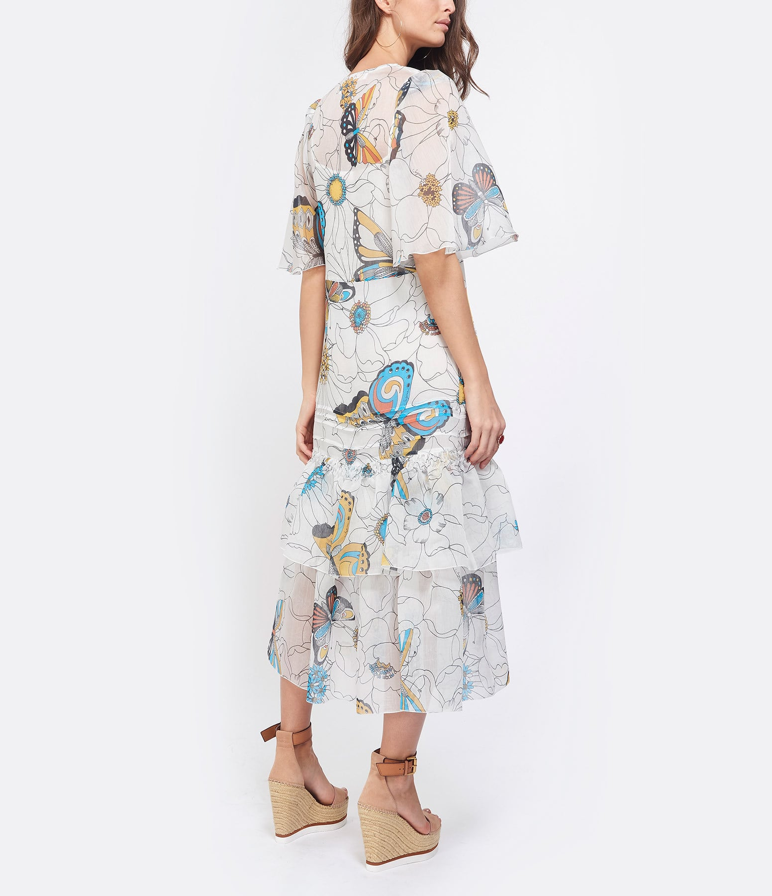 SEE BY CHLOE - Robe Florale Imprimé Multicolore Blanc