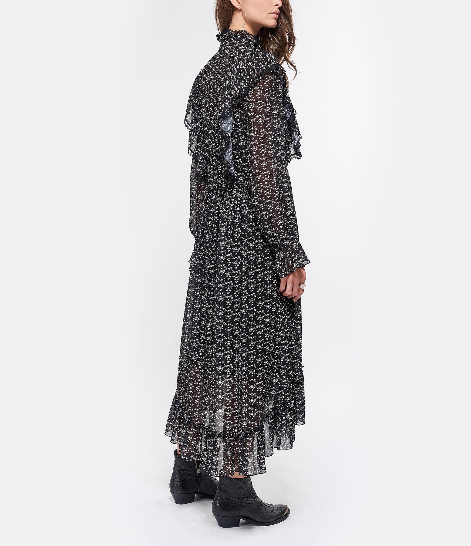 SEE BY CHLOE - Robe Volant Transparente Noir Blanc