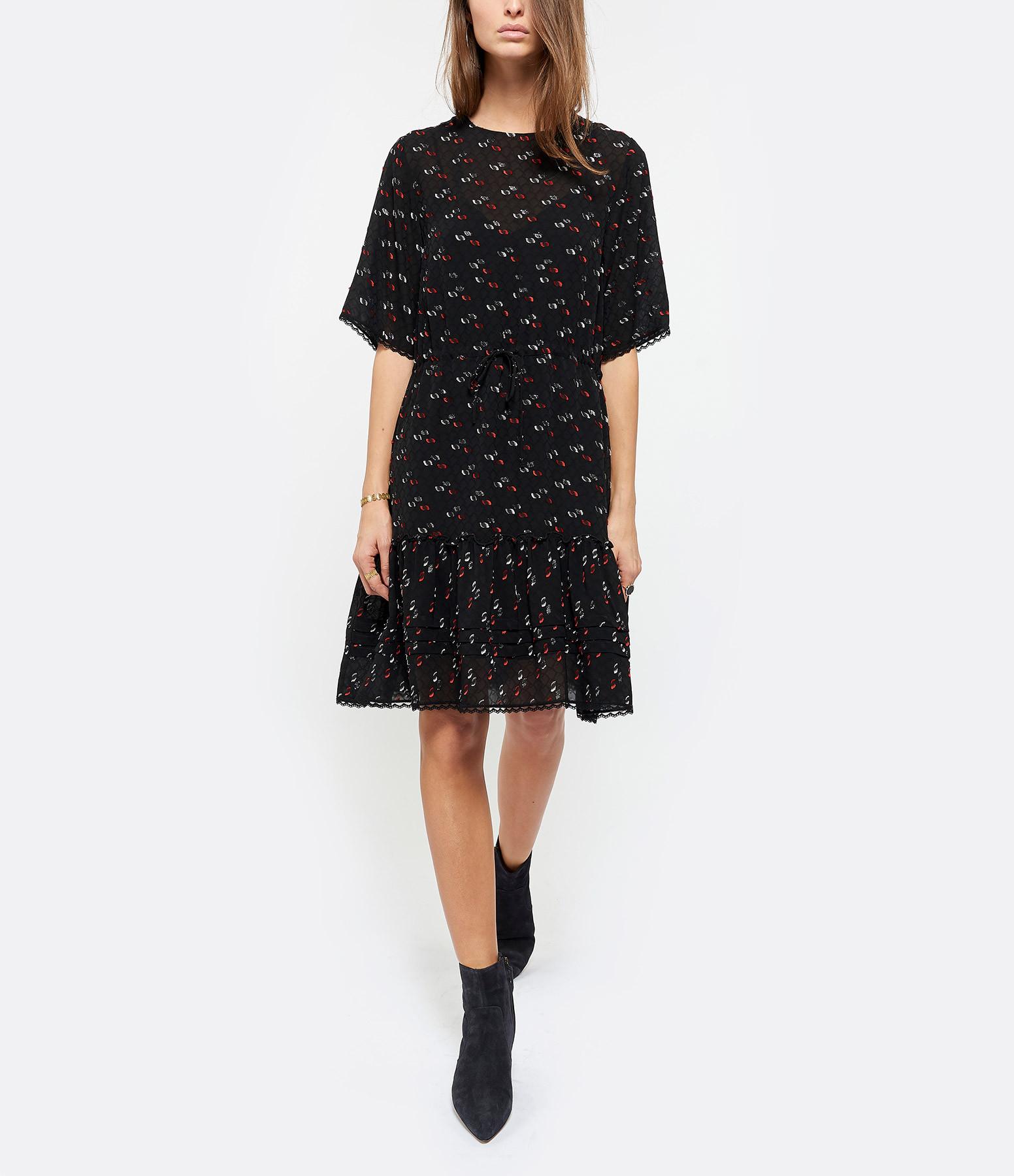 SEE BY CHLOE - Robe Imprimé Multicolore Noir