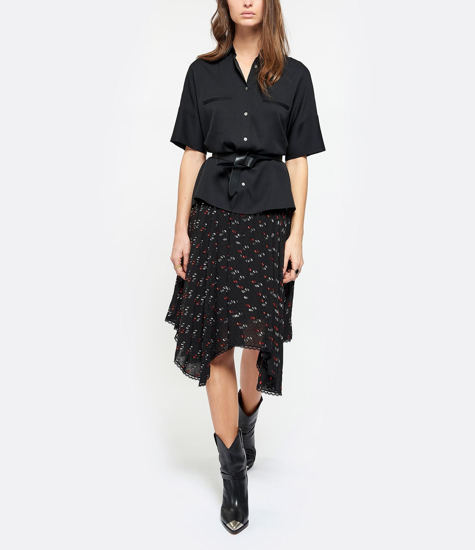 SEE BY CHLOE - Jupe Imprimé Multicolore Noir