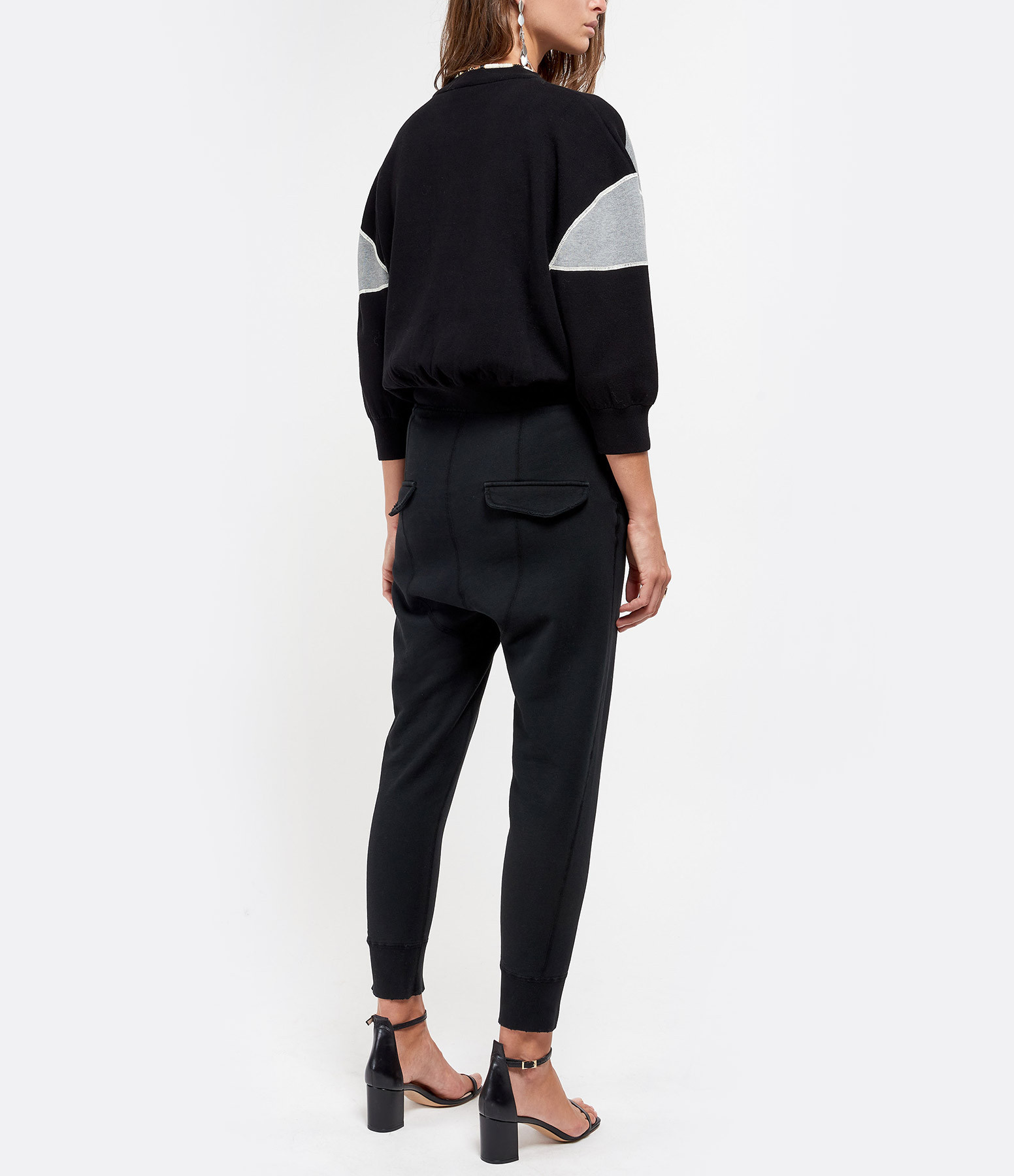 SEE BY CHLOE - Pull Col Rond Charbon Noir