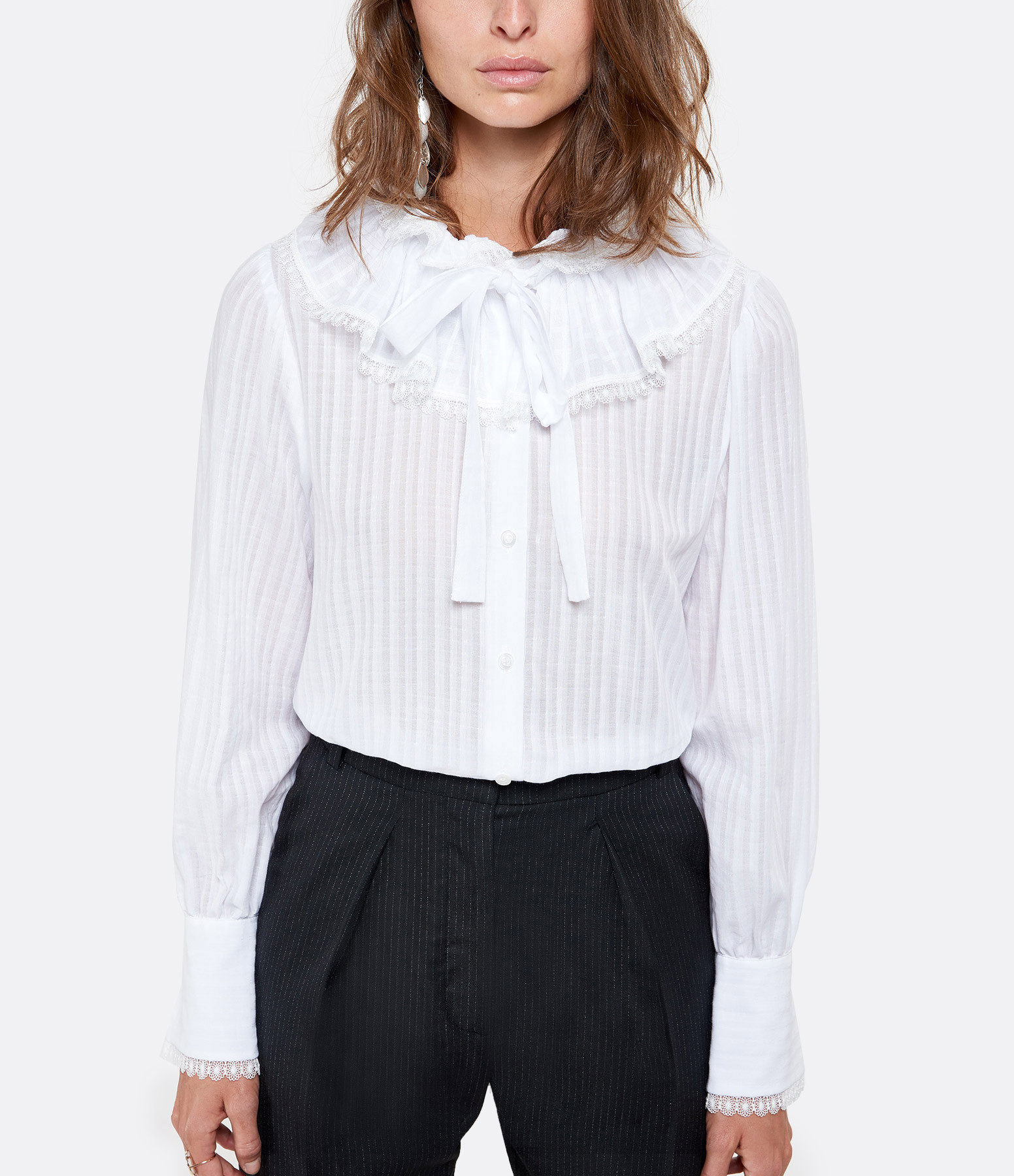 SEE BY CHLOE - Blouse Volants Blanc