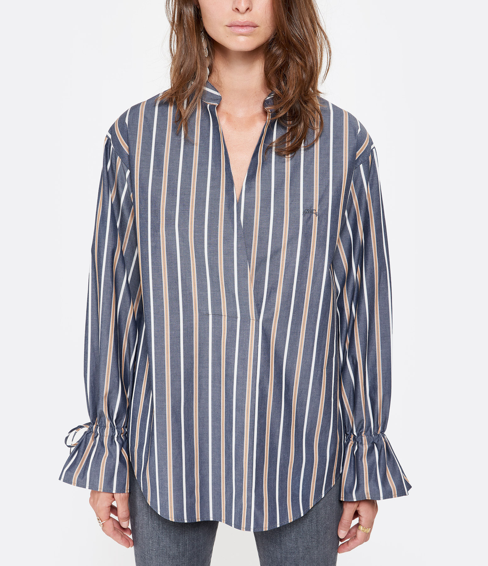 SEE BY CHLOE - Blouse Rayures Bleu Jaune
