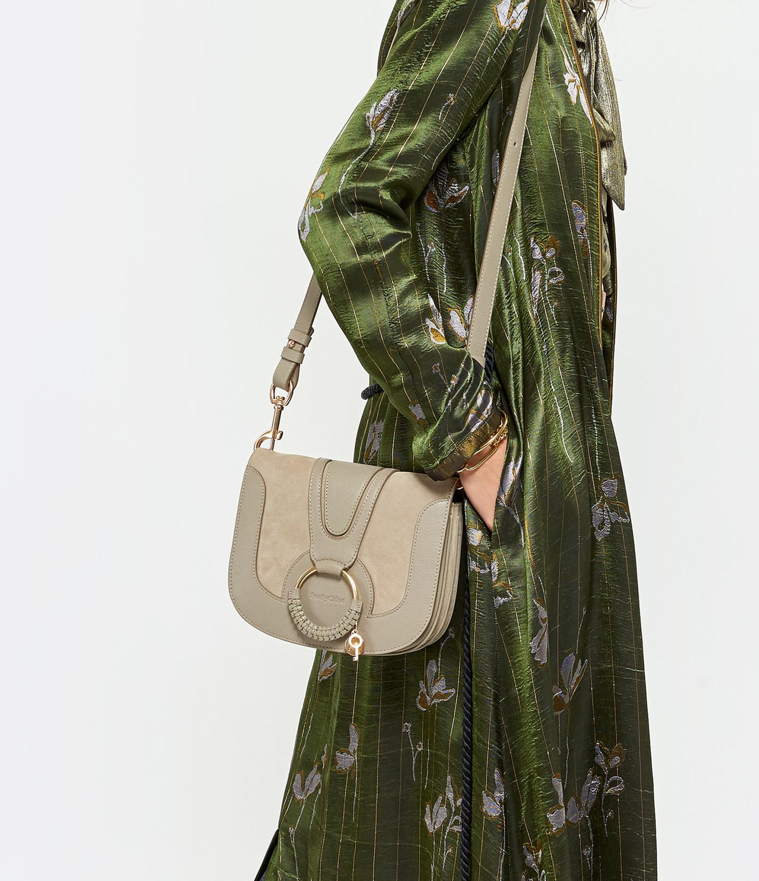 SEE BY CHLOE - Sac Hana Double Cuir Motty Grey