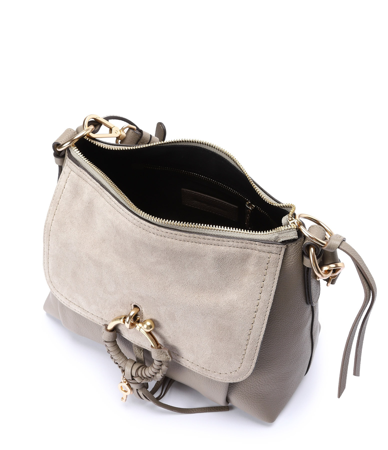 SEE BY CHLOE - Sac Joan PM Cuir Grainé Motty Grey