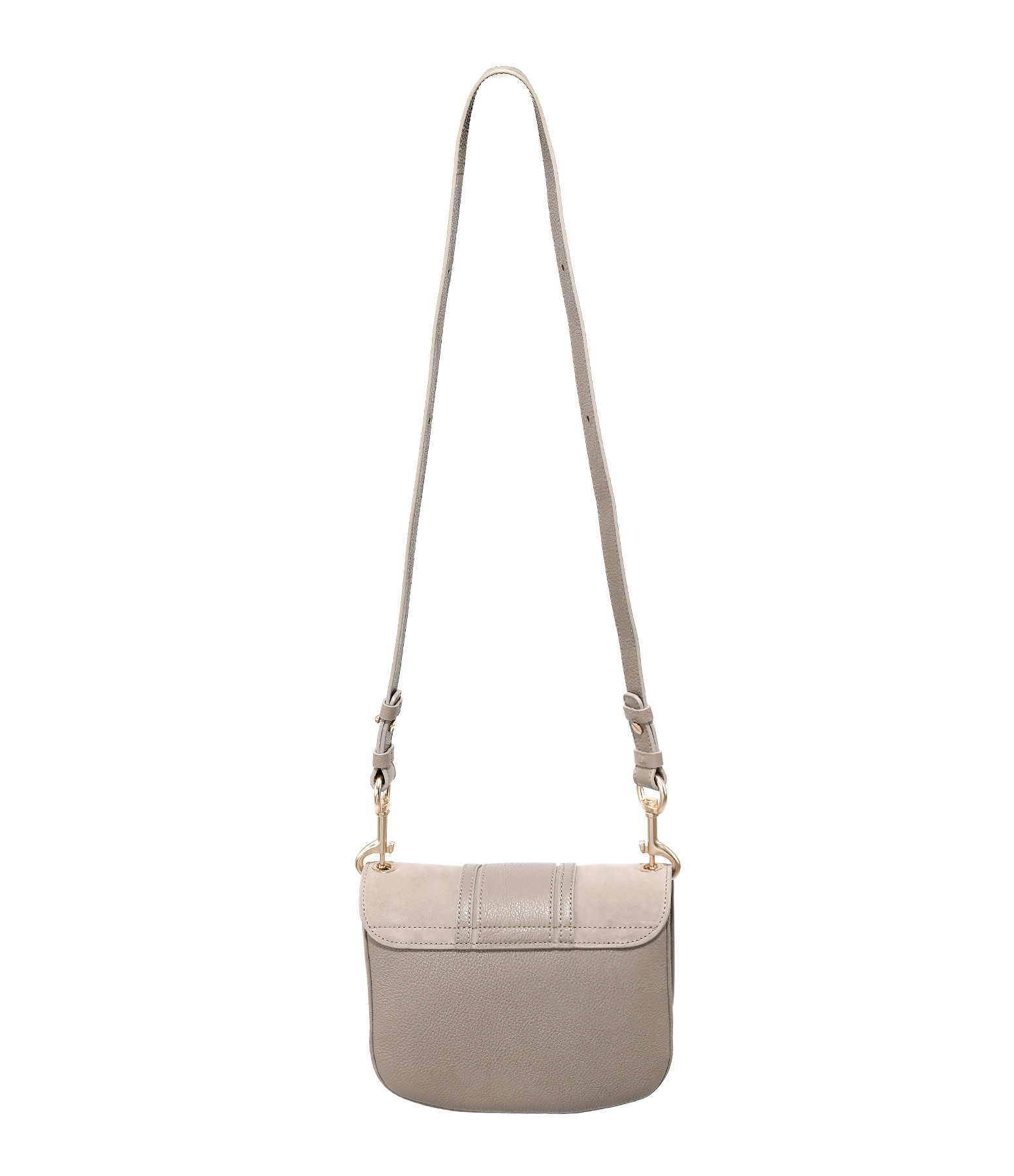SEE BY CHLOE - Sac Hana Double Cuir Motty Grey
