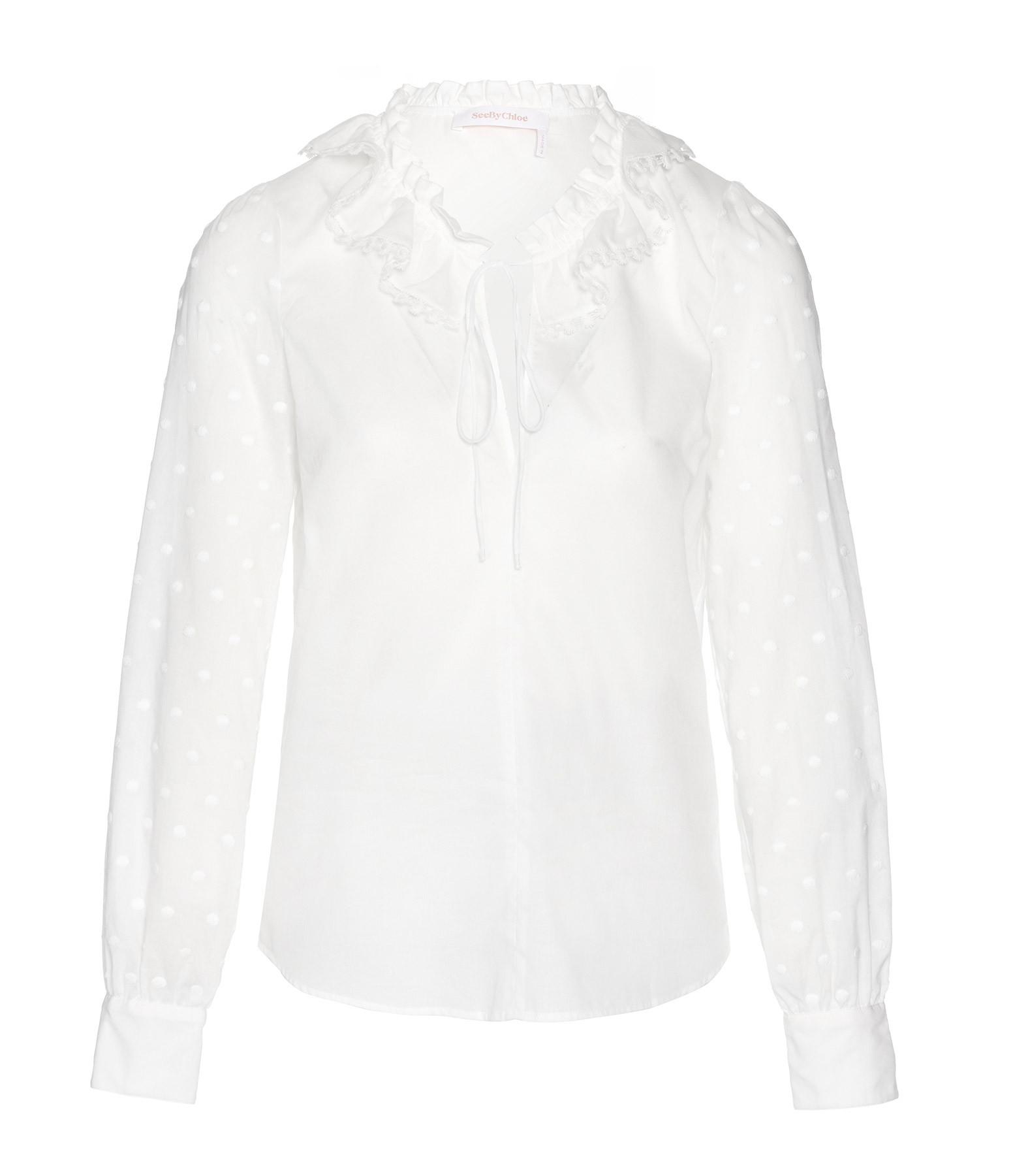SEE BY CHLOE - Blouse Dentelle Blanc