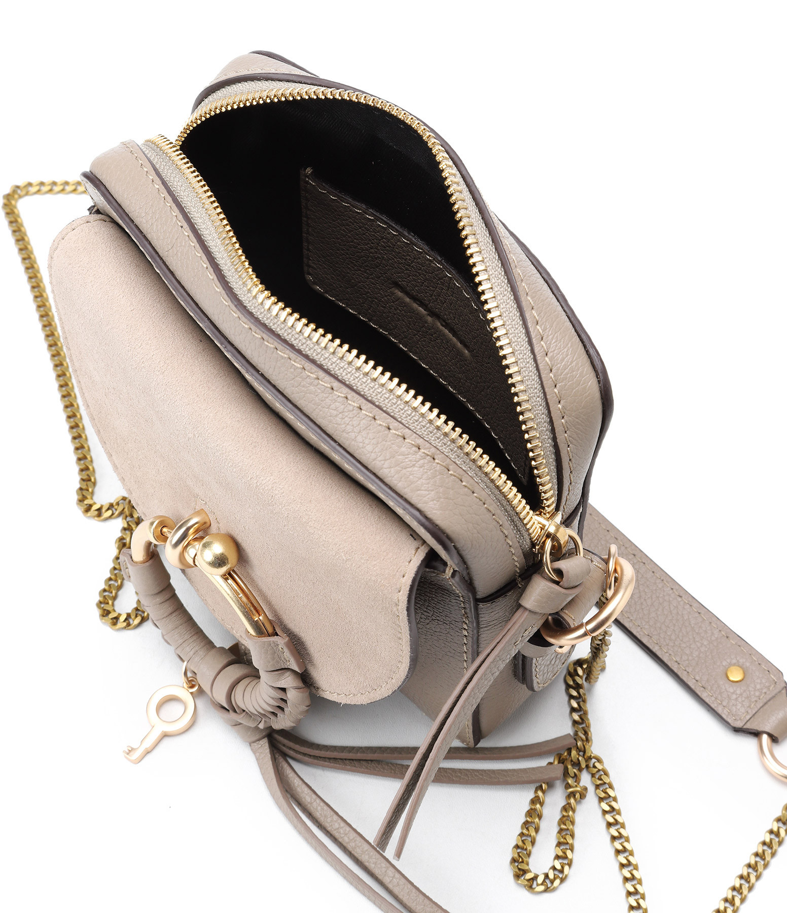 SEE BY CHLOE - Sac Caméra Joan Cuir Motty Grey