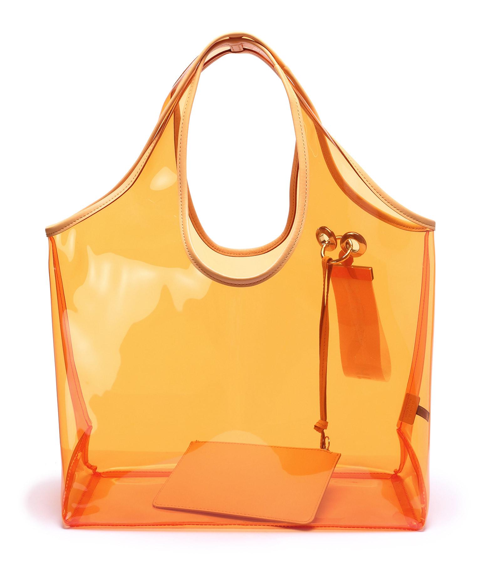 SEE BY CHLOE - Cabas Jay Vinyle Orange Pétillant