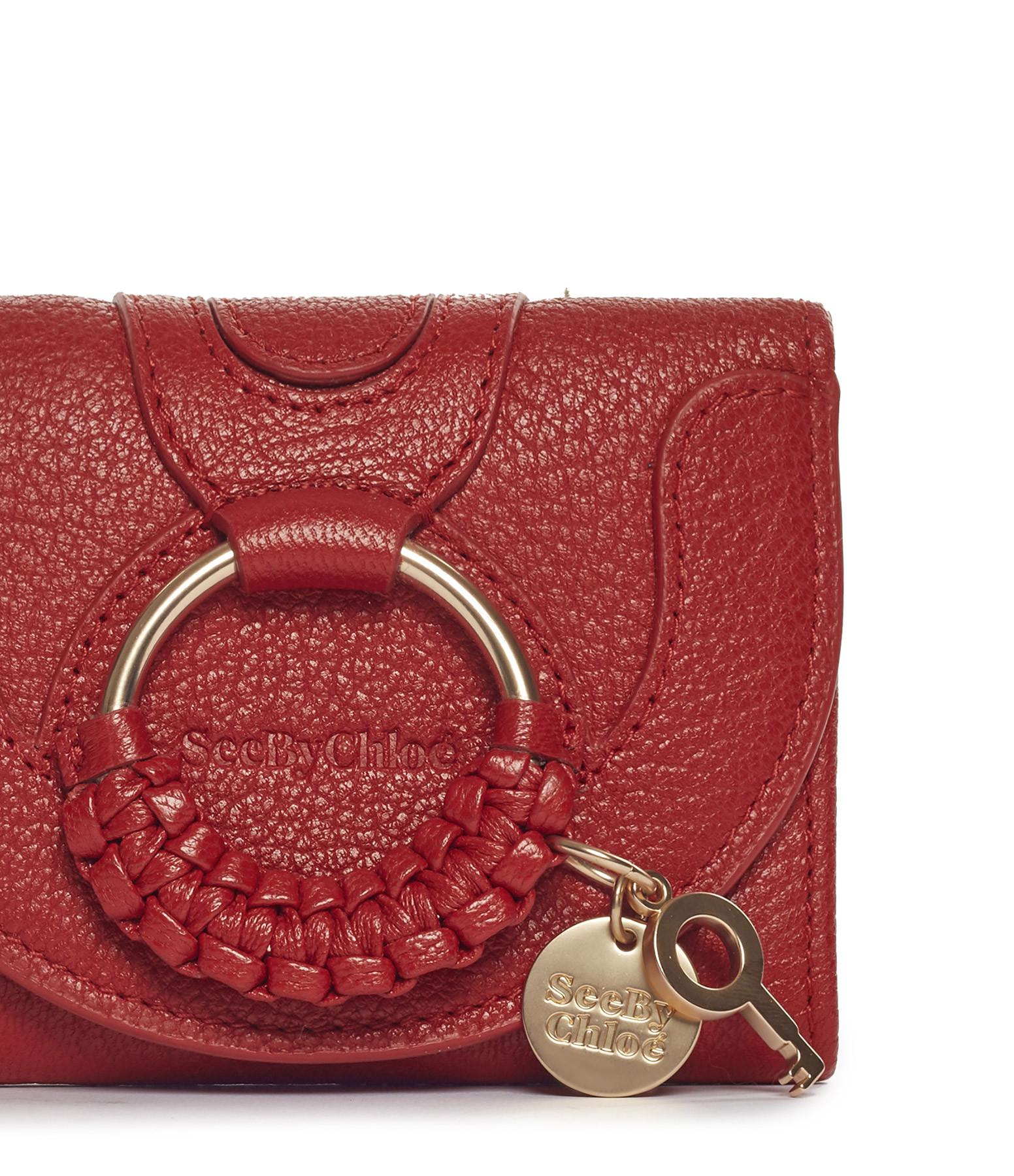 SEE BY CHLOE - Porte-monnaie Hana Cuir Rouge Radieux